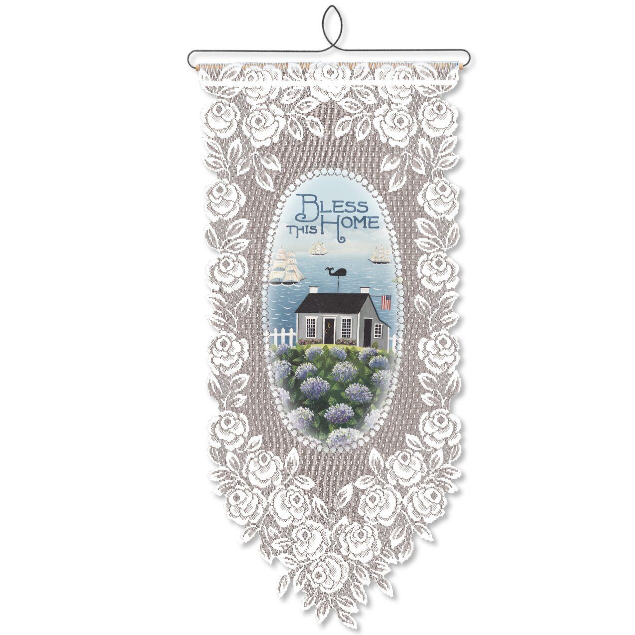 Heritage lace bless this home wall decor wayfair for Lace home decor