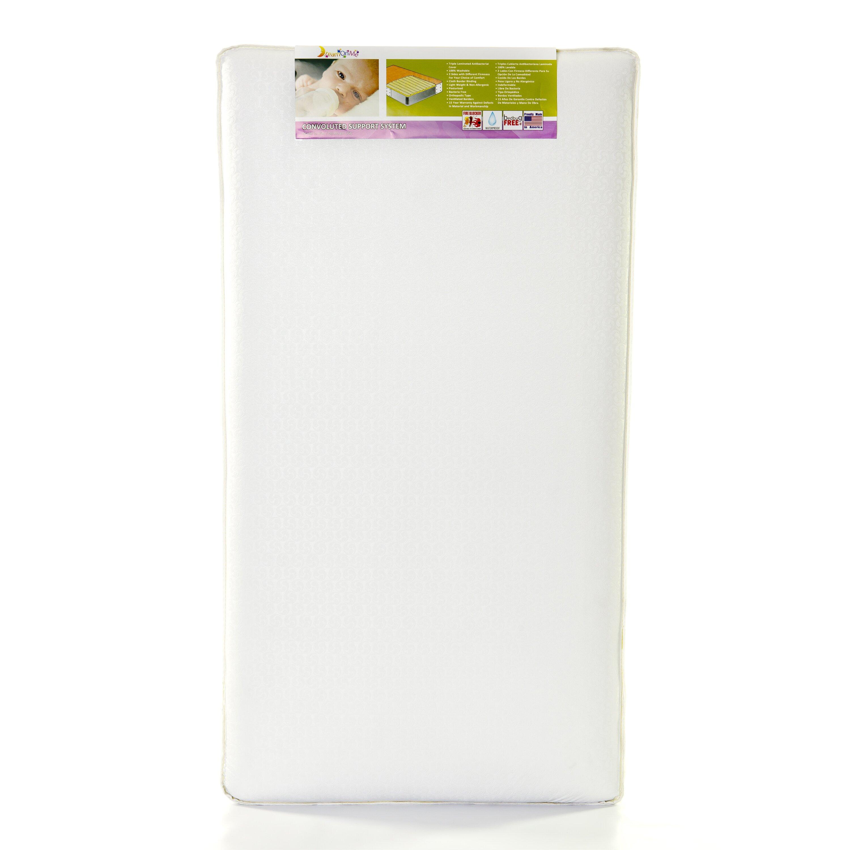 Futon Coil Spring Mattress ... Coil Inner Spring Standard Crib & Toddler Mattress & Reviews | Wayfair