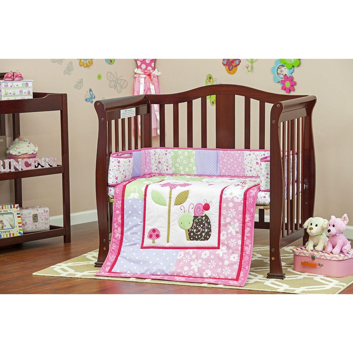 Dream On Me Spring Time Portable 3 Piece Mini Crib Bedding