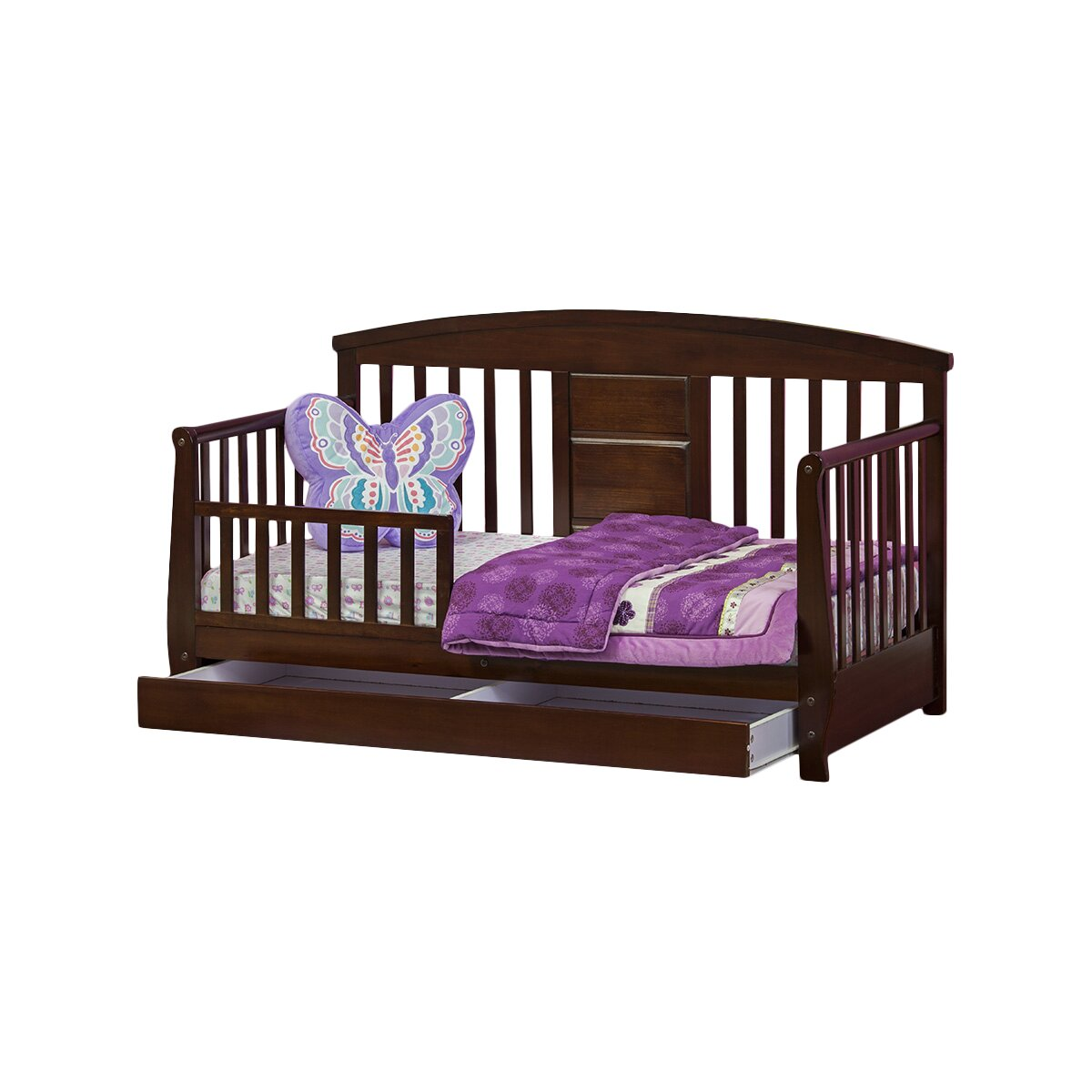 Dream On Me Deluxe Convertible Toddler Bed With Storage