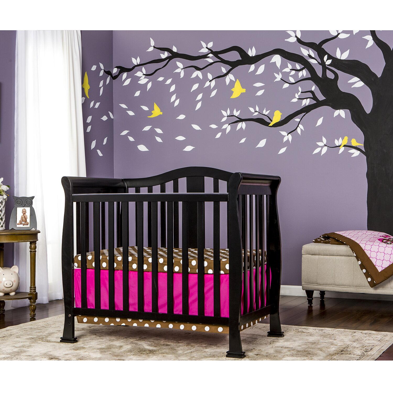 Dream On Me Naples 4-in-1 Convertible Mini Crib & Reviews