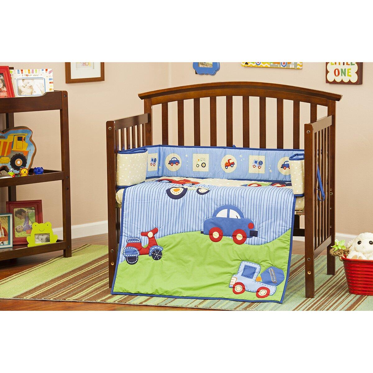 Dream On Me Travel Time Portable 3 Piece Crib Bedding Set