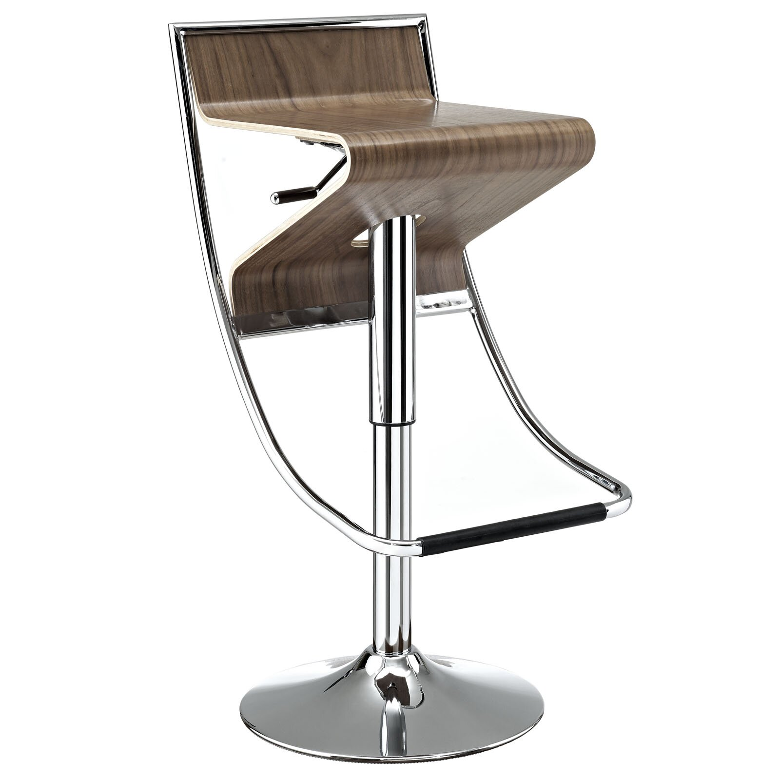 Modway Zig Zag Adjustable Height Swivel Bar Stool