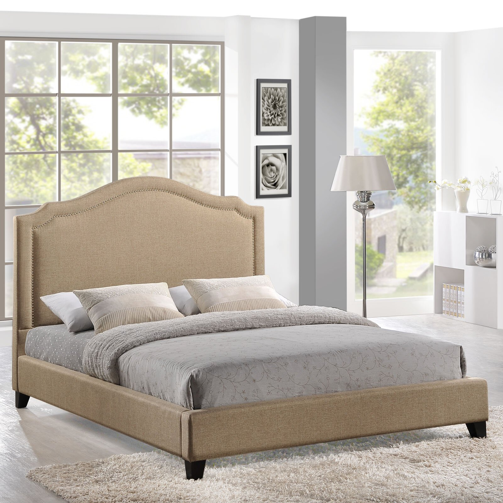 modway queen upholstered platform bed reviews wayfair. Black Bedroom Furniture Sets. Home Design Ideas