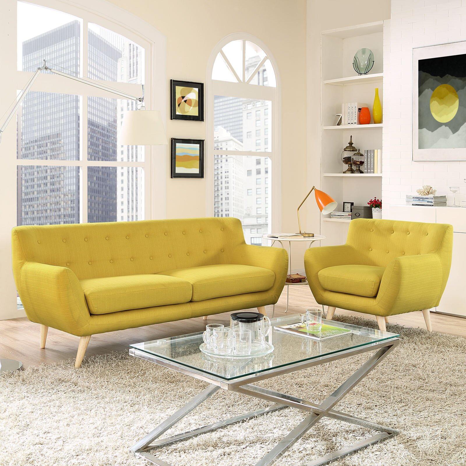 Modway remark 2 piece living room set reviews wayfair for 2 piece living room set