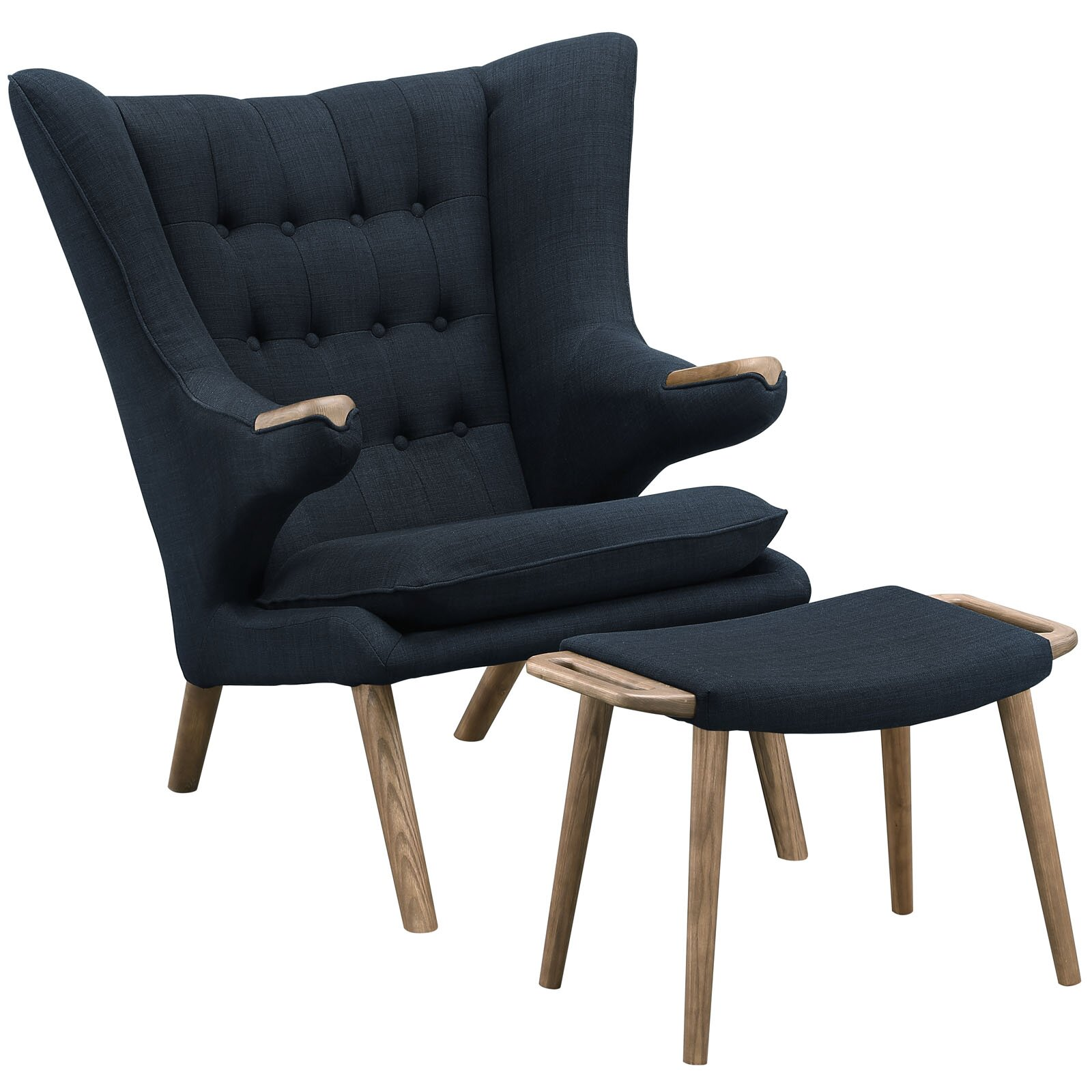 modway bear lounge chair and ottoman set reviews. Black Bedroom Furniture Sets. Home Design Ideas