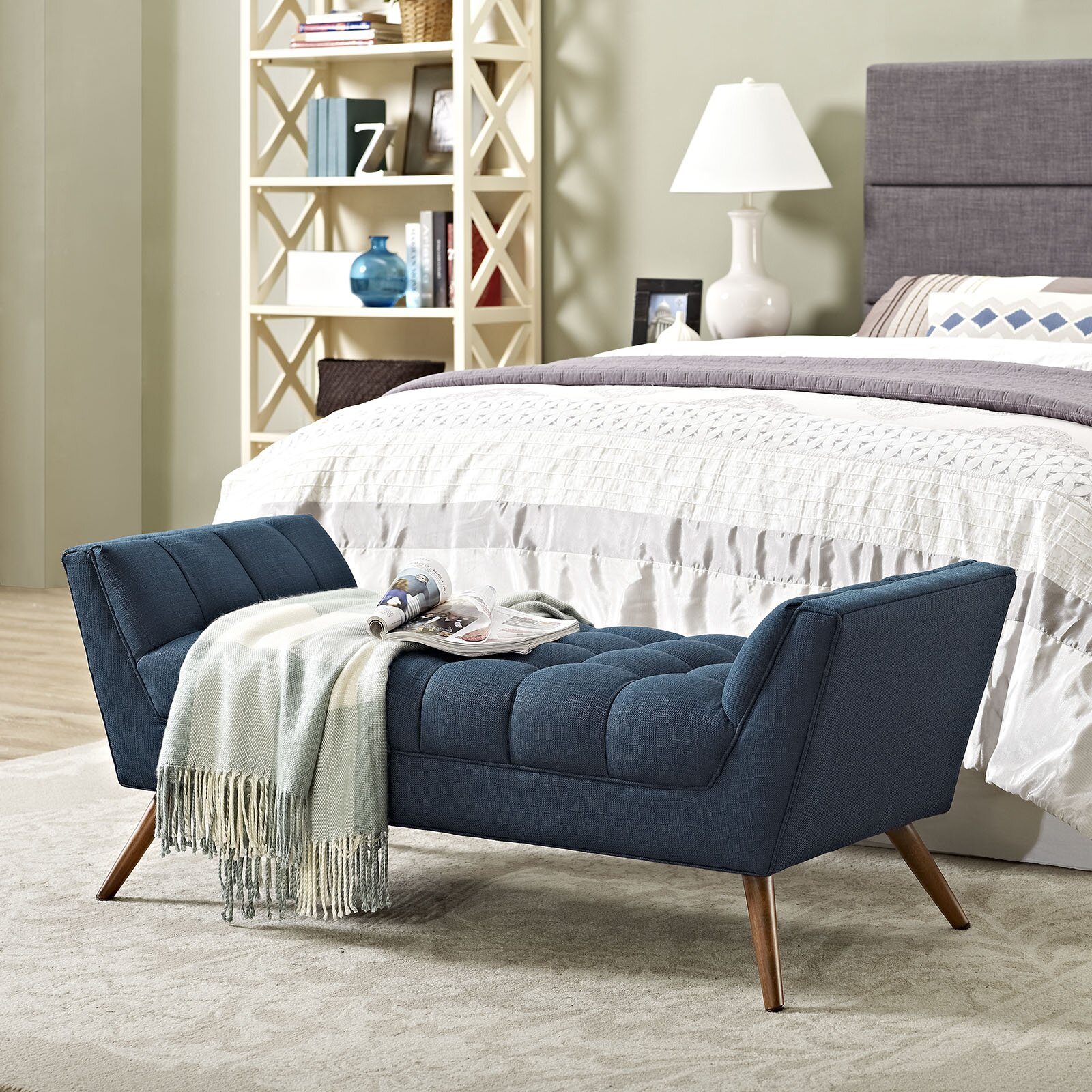 upholstered bedroom bench modway response upholstered bedroom bench amp reviews wayfair 13695