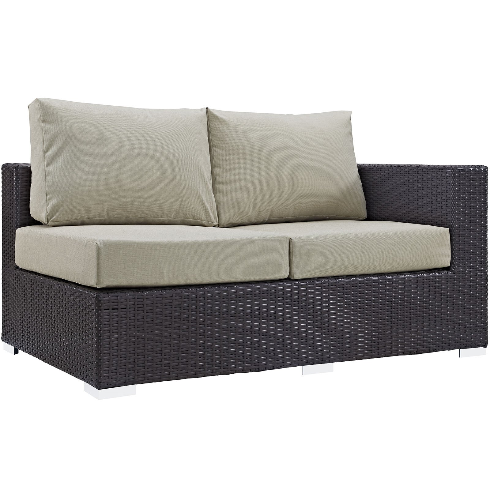 Modway Convene 4 Piece Patio Daybed with Cushions