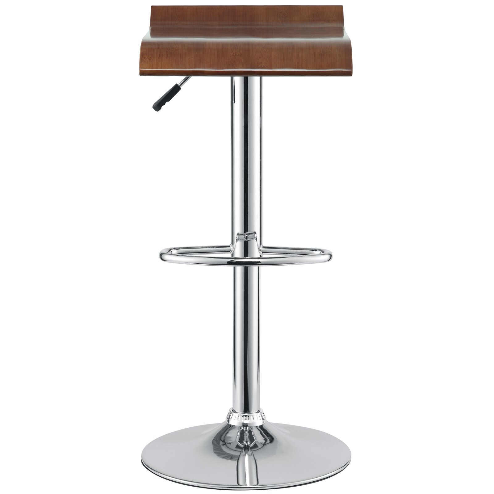 Modway Bentwood Adjustable Height Swivel Bar Stool