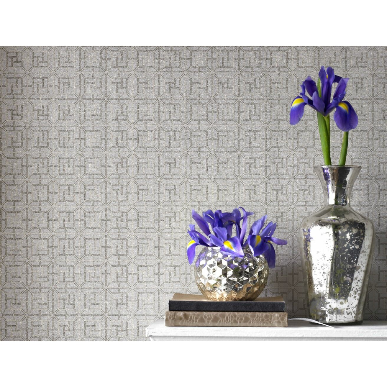 Graham brown salizzada 10m l x 52cm w geometric foiled for Graham and brown bathroom wallpaper