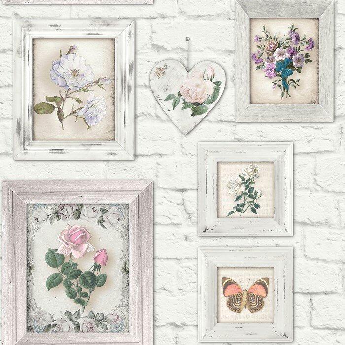 graham brown fresco 10m l x 53cm w floral and botanical. Black Bedroom Furniture Sets. Home Design Ideas