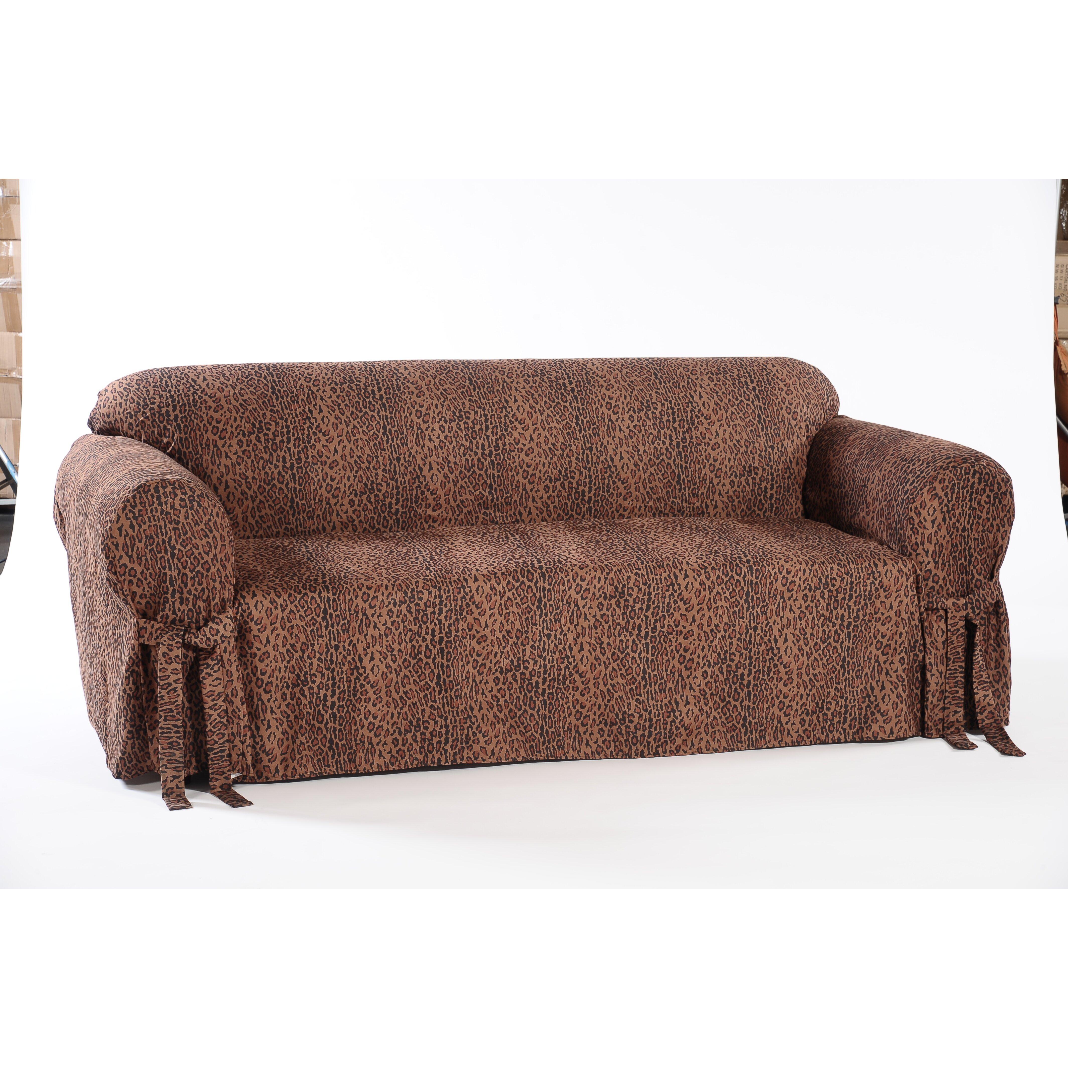 Classic Slipcovers Leopard Print Loveseat Slipcover Wayfair