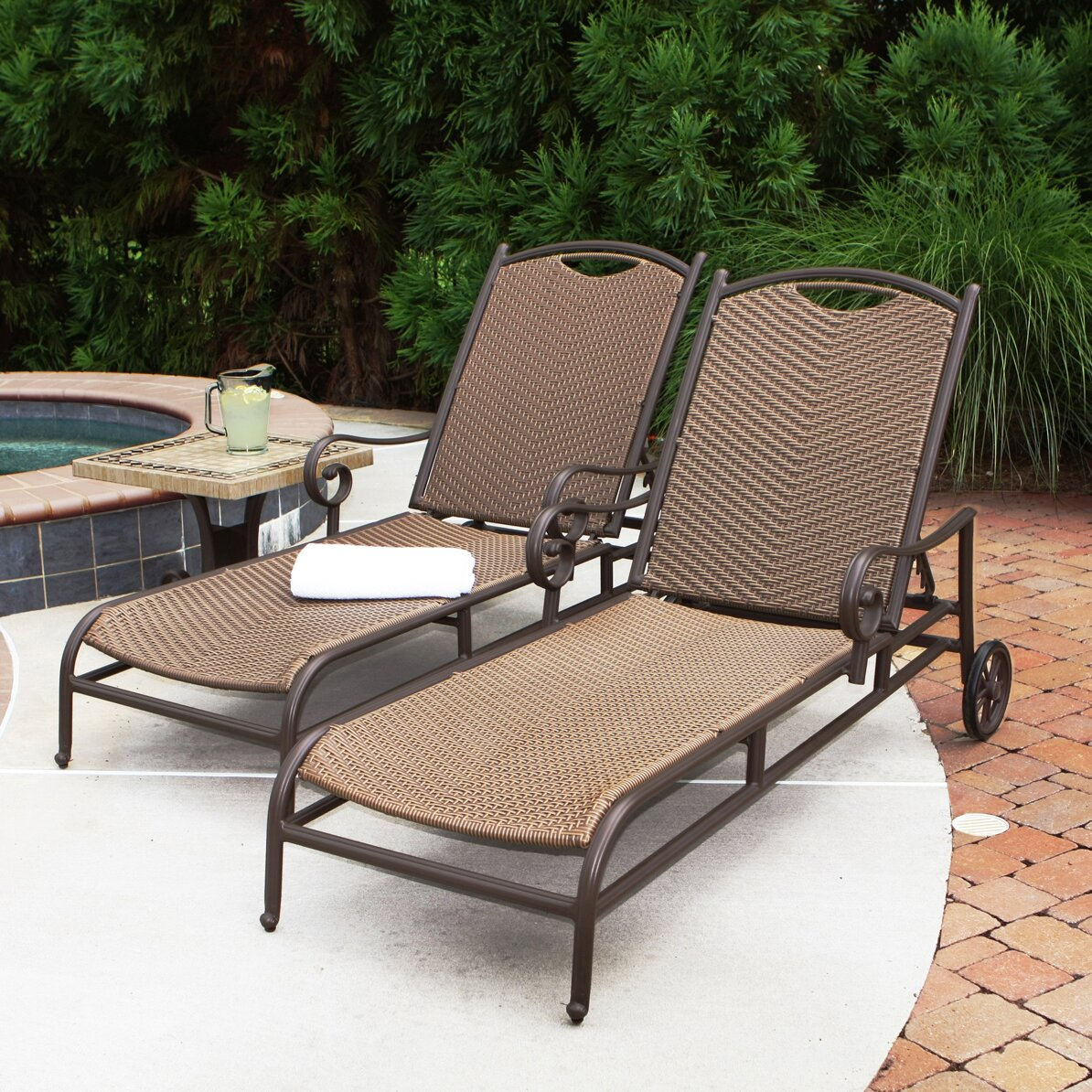 Tortuga outdoor stonewick chaise lounge reviews wayfair for Buy outdoor chaise lounge