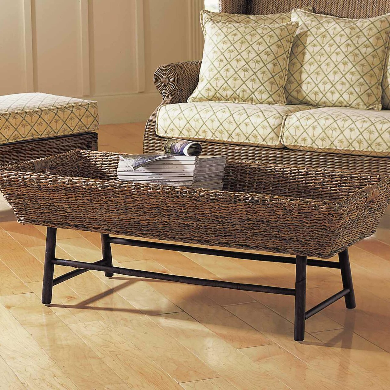 Padmas plantation basket coffee table reviews wayfair Coffee table baskets