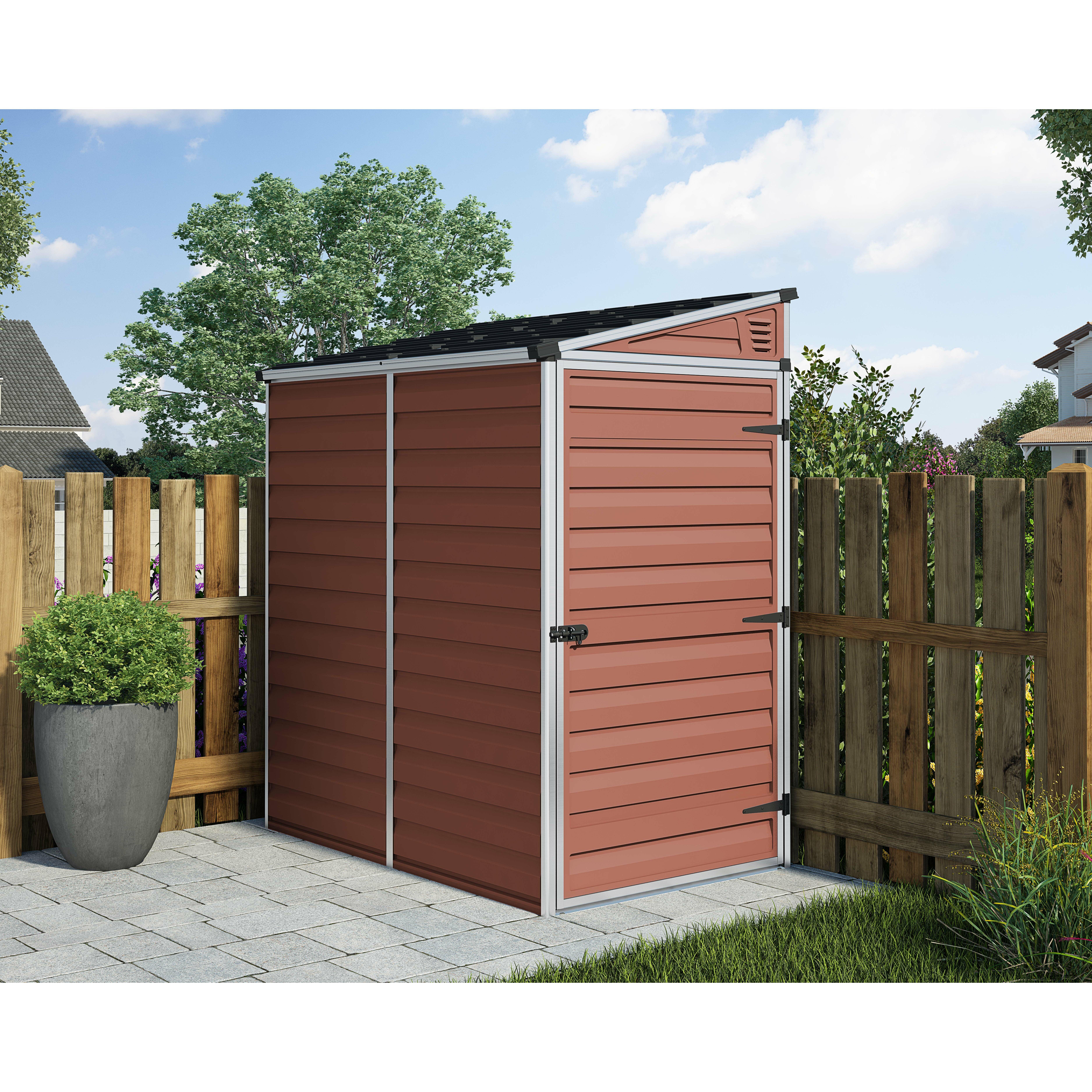 Palram skylight 4 x 6 polycarbonate aluminium storage shed for Garden shed 4 x 2
