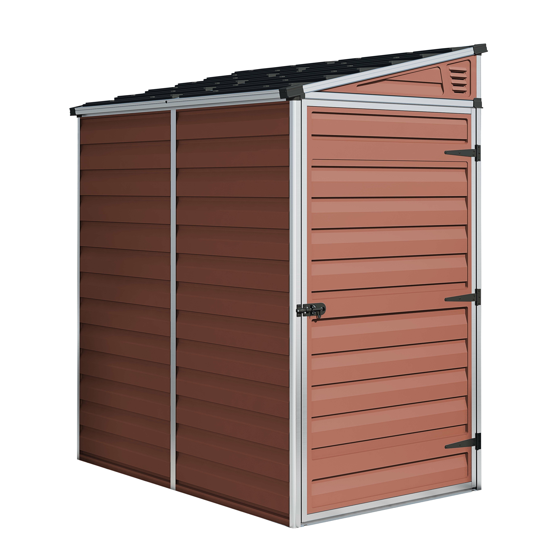 Palram Skylight 4 X 6 Polycarbonate Aluminium Storage Shed