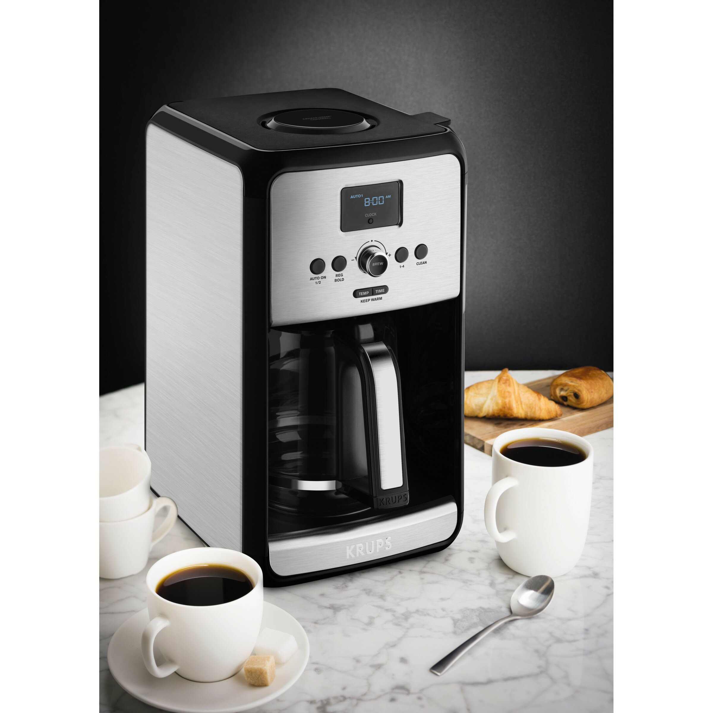 Programmable Filter Coffee Maker : Krups Savoy Programmable Filter Stainless Steel Coffee Maker & Reviews Wayfair