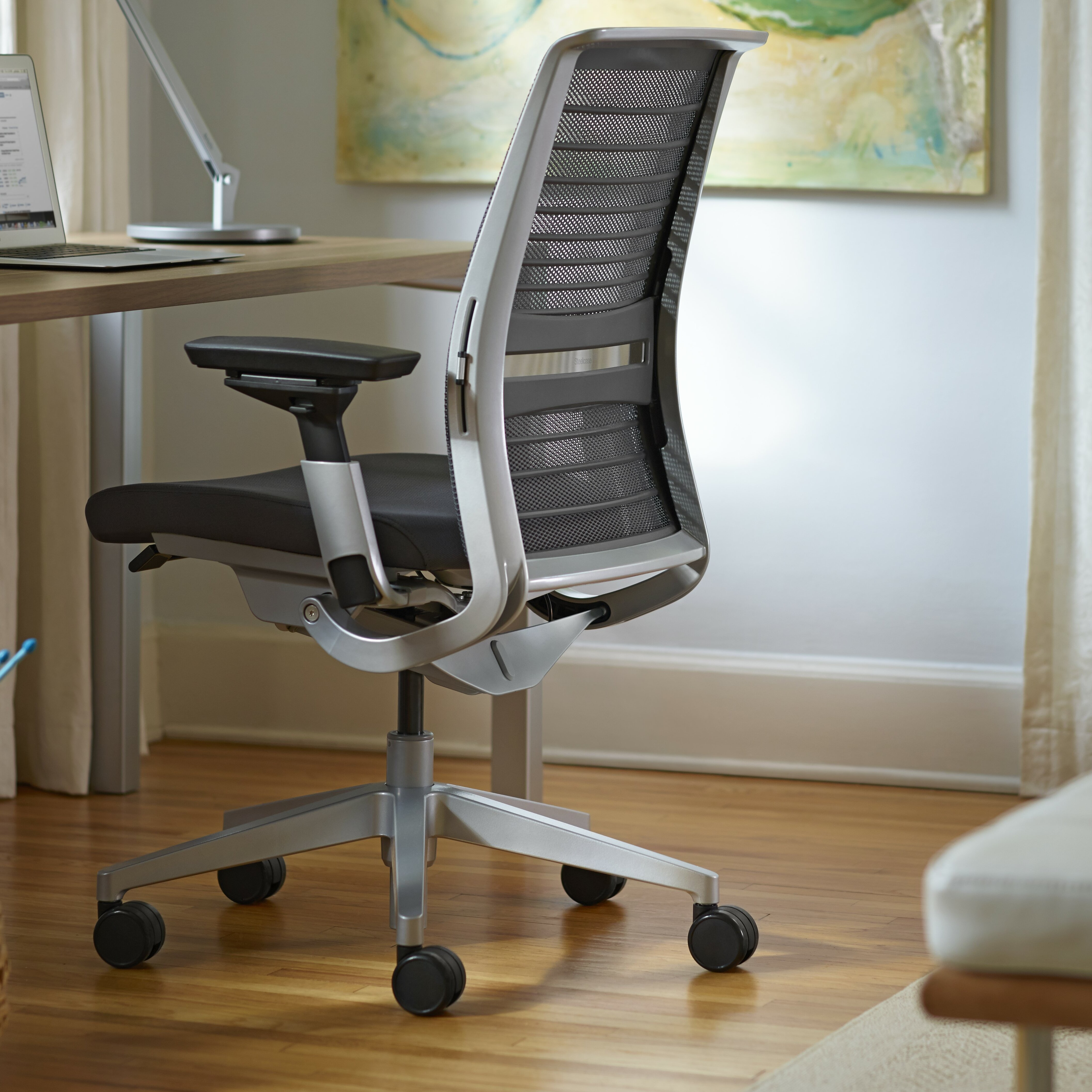 steelcase think 3d knit back office chair reviews wayfair. Black Bedroom Furniture Sets. Home Design Ideas