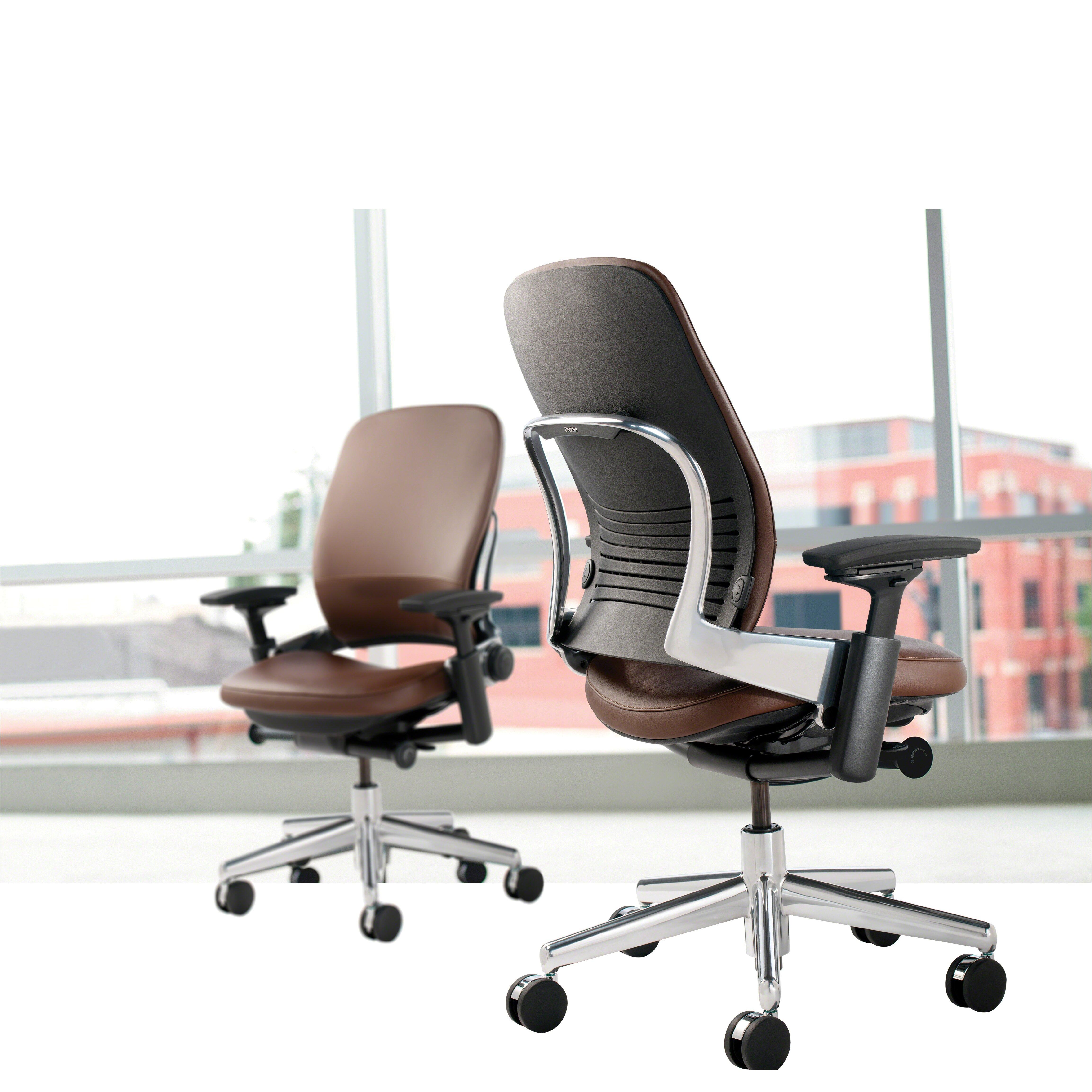 steelcase leap high back leather desk chair wayfair
