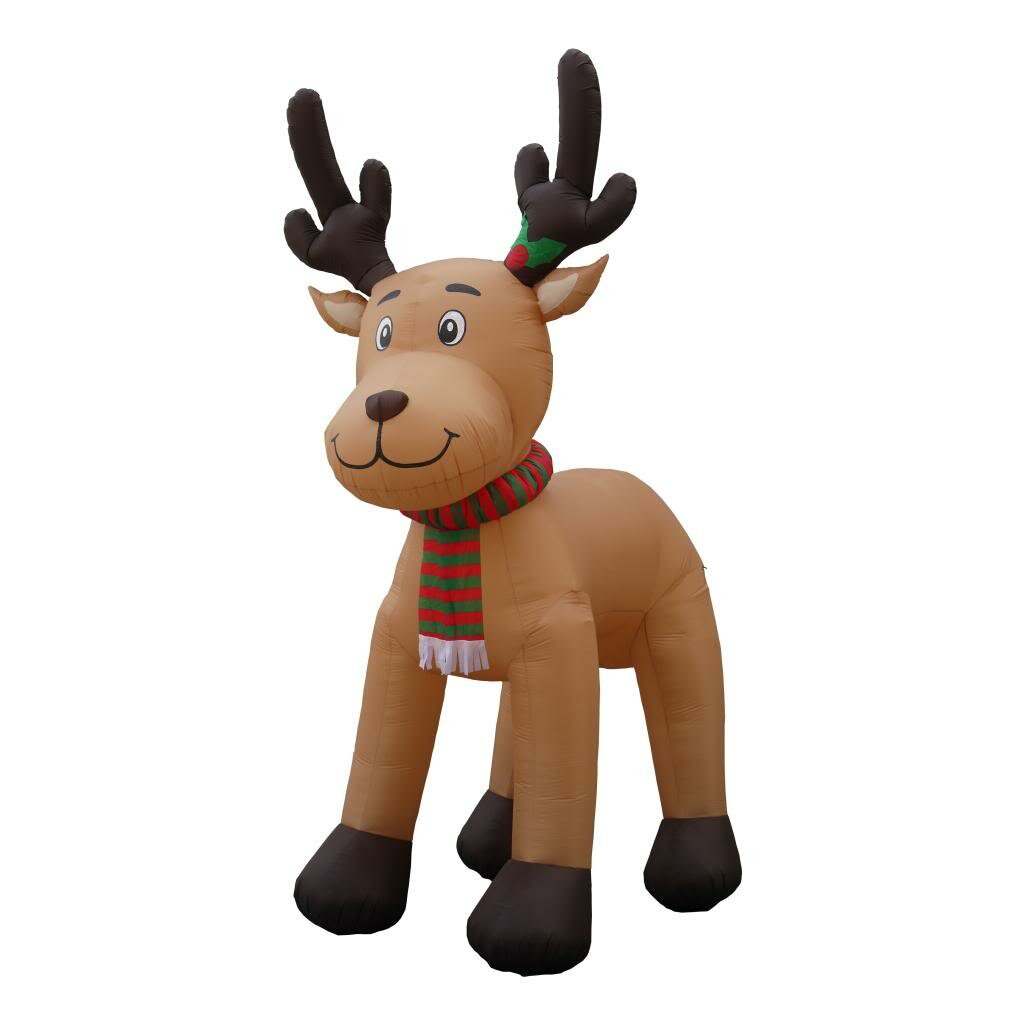 Bzb Goods 15 Ft Inflatable Reindeer Christmas Decoration