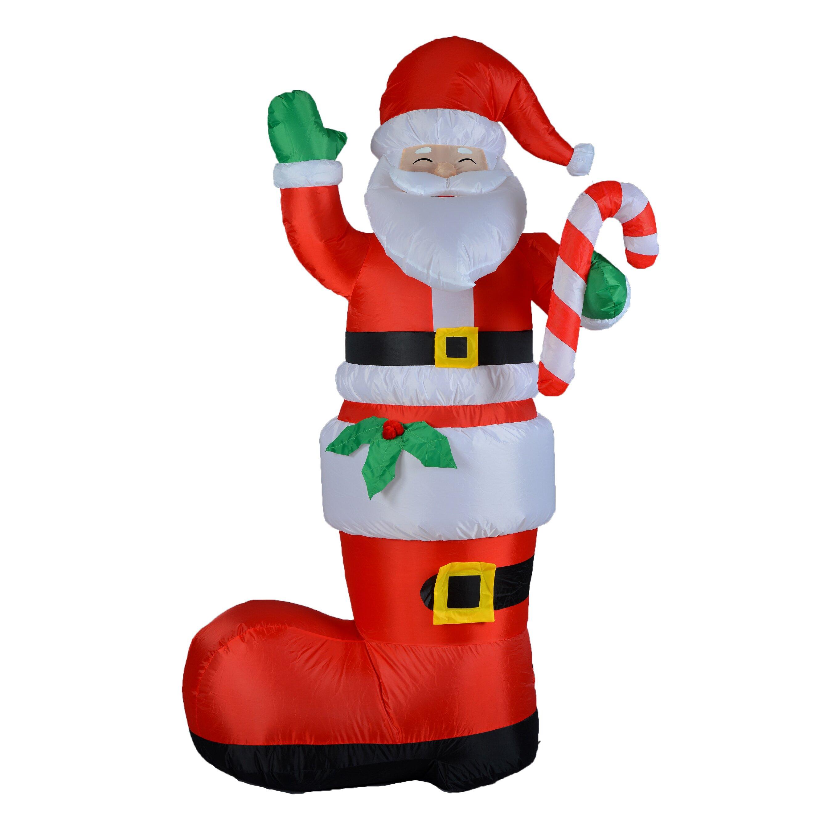 Bzb Goods 6 Ft Santa Boot Decoration Reviews Wayfair