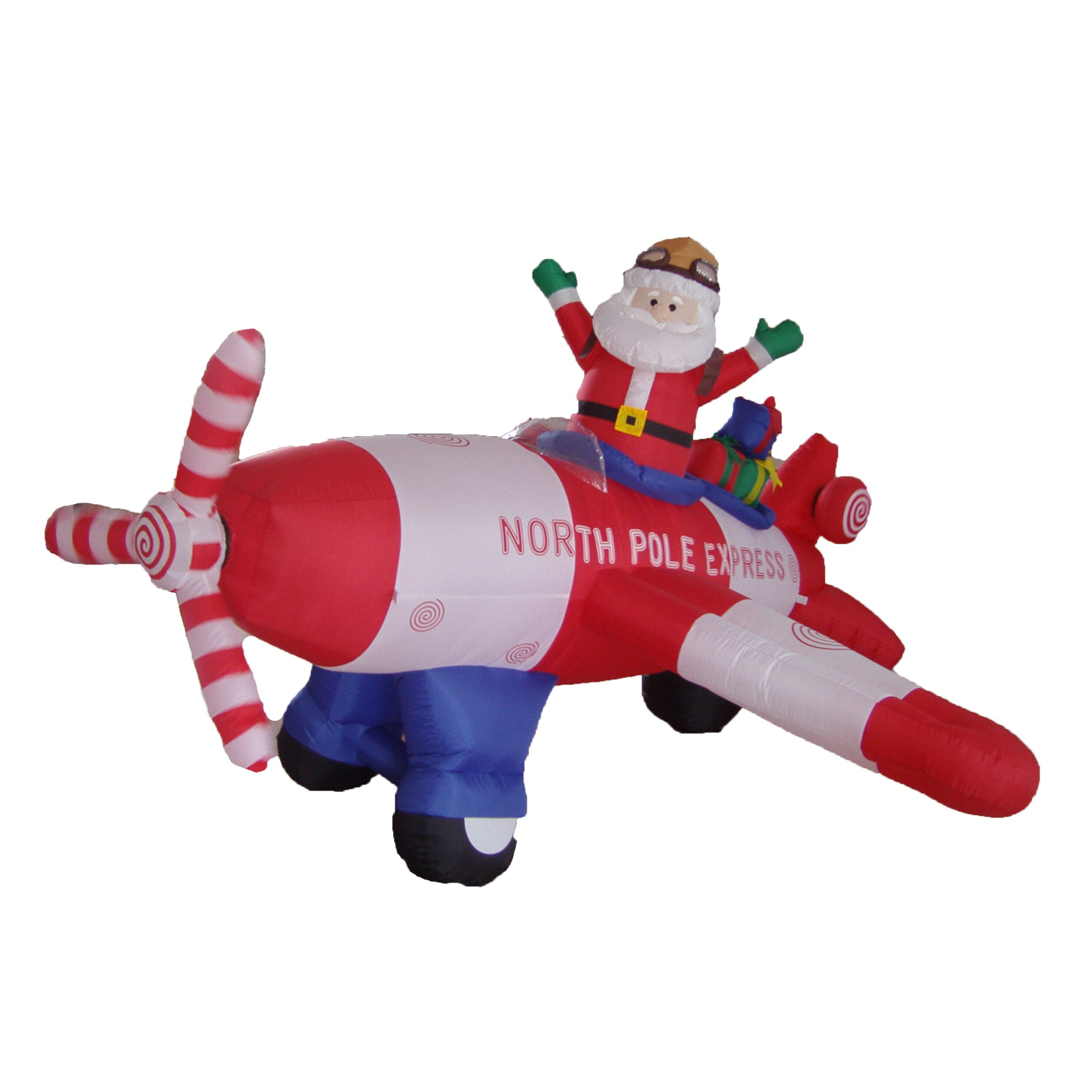 Bzb goods christmas inflatable animated santa claus for Large outdoor christmas decorations sale