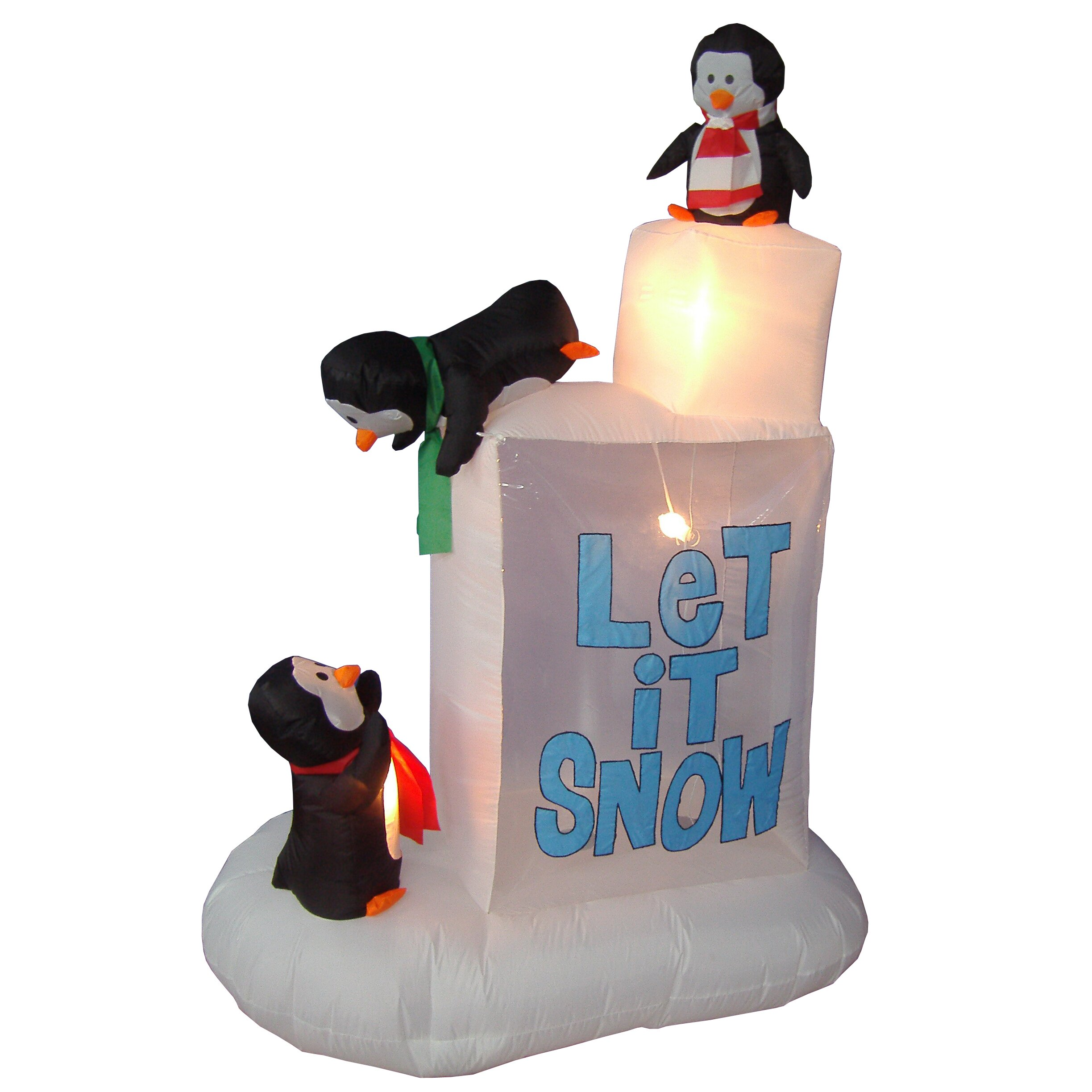 Bzb Goods Christmas Inflatables Penguins On Ice Decoration