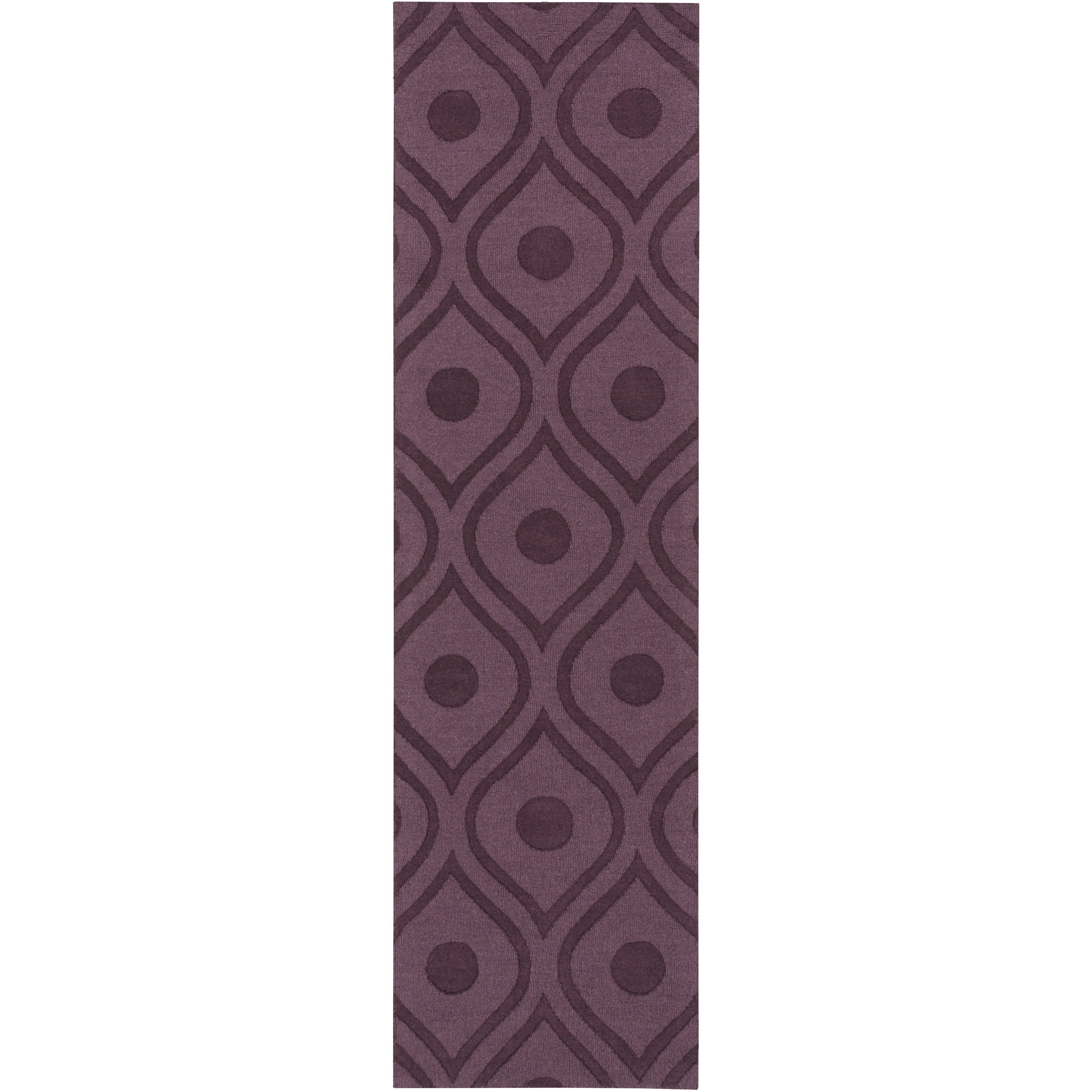 Artistic Weavers Central Park Purple Geometric Zara Area