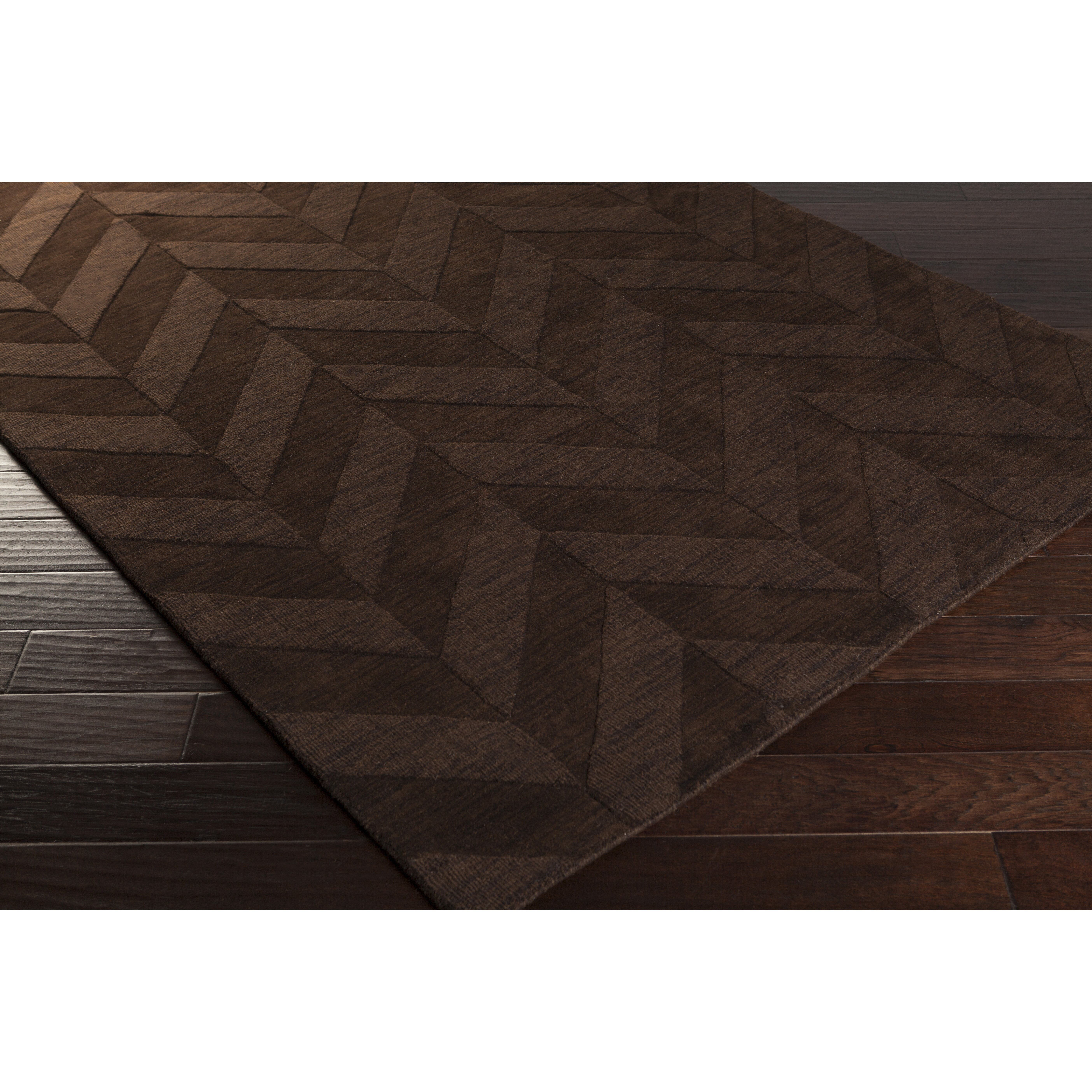 Chevron Accent Rug: Artistic Weavers Central Park Brown Chevron Carrie Area