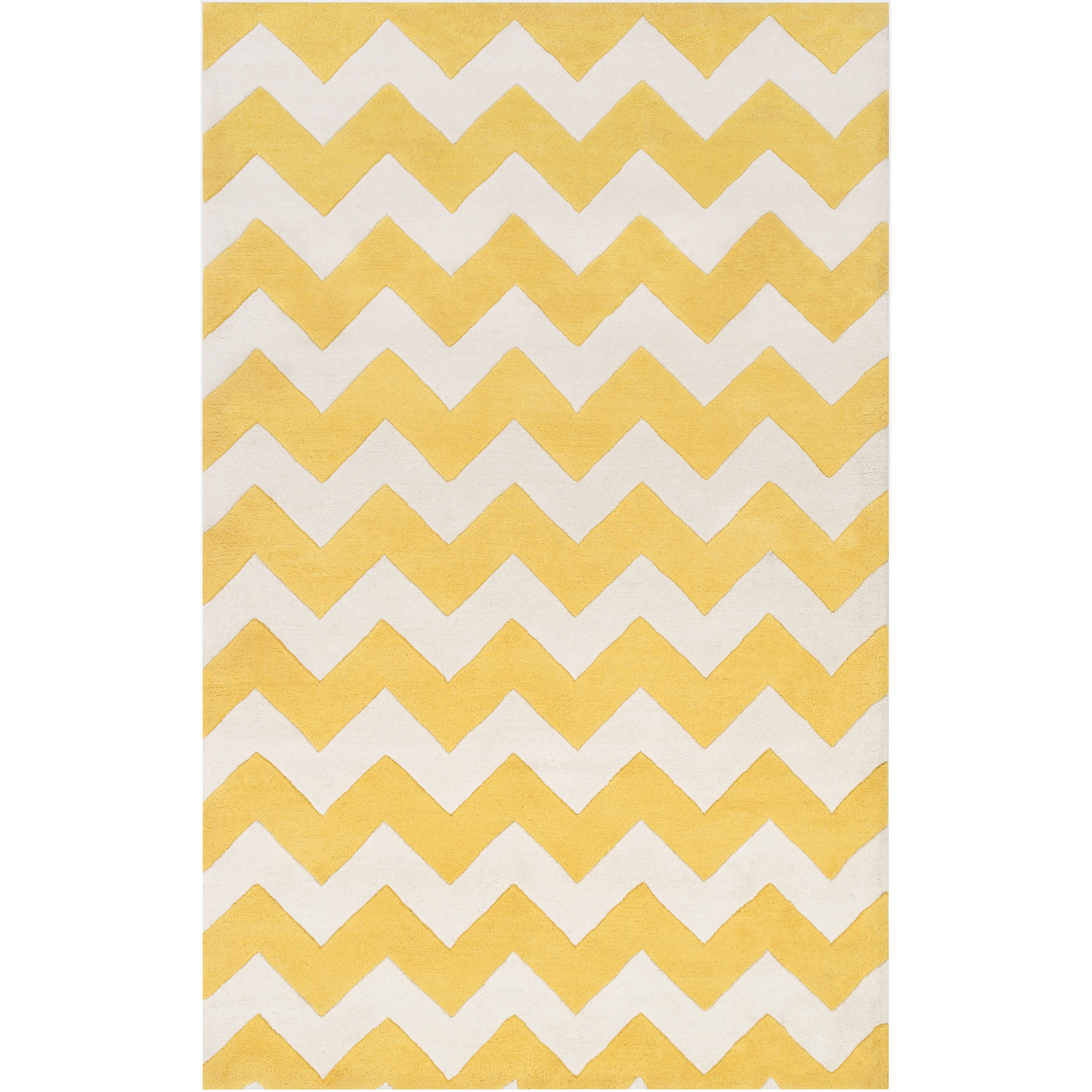 Turquoise curtains bedroom teal bedroom curtains and teal nursery - Artistic Weavers Transit Yellow Ivory Chevron Penelope