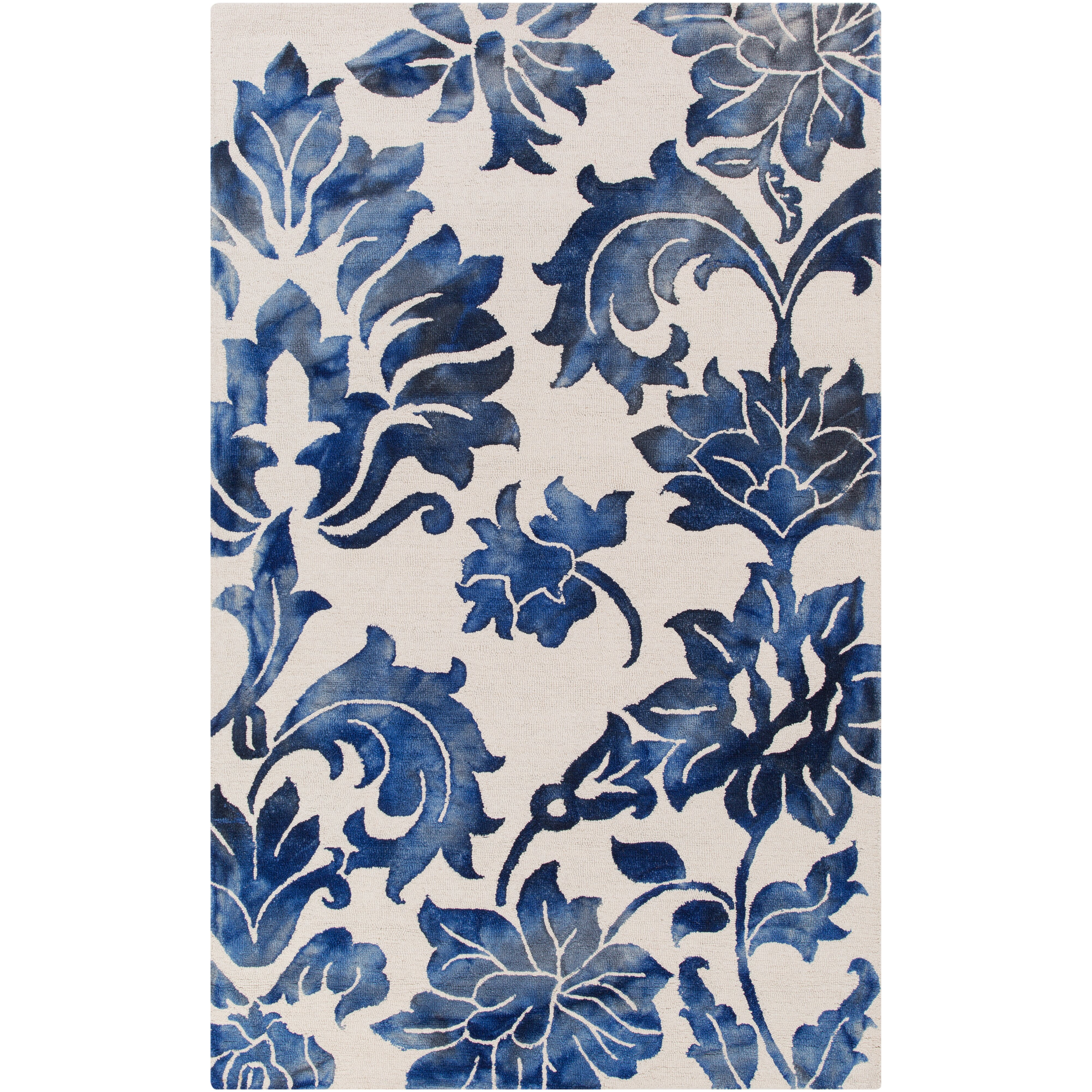 artistic weavers organic chloe hand tufted navy off white area rug reviews wayfair. Black Bedroom Furniture Sets. Home Design Ideas