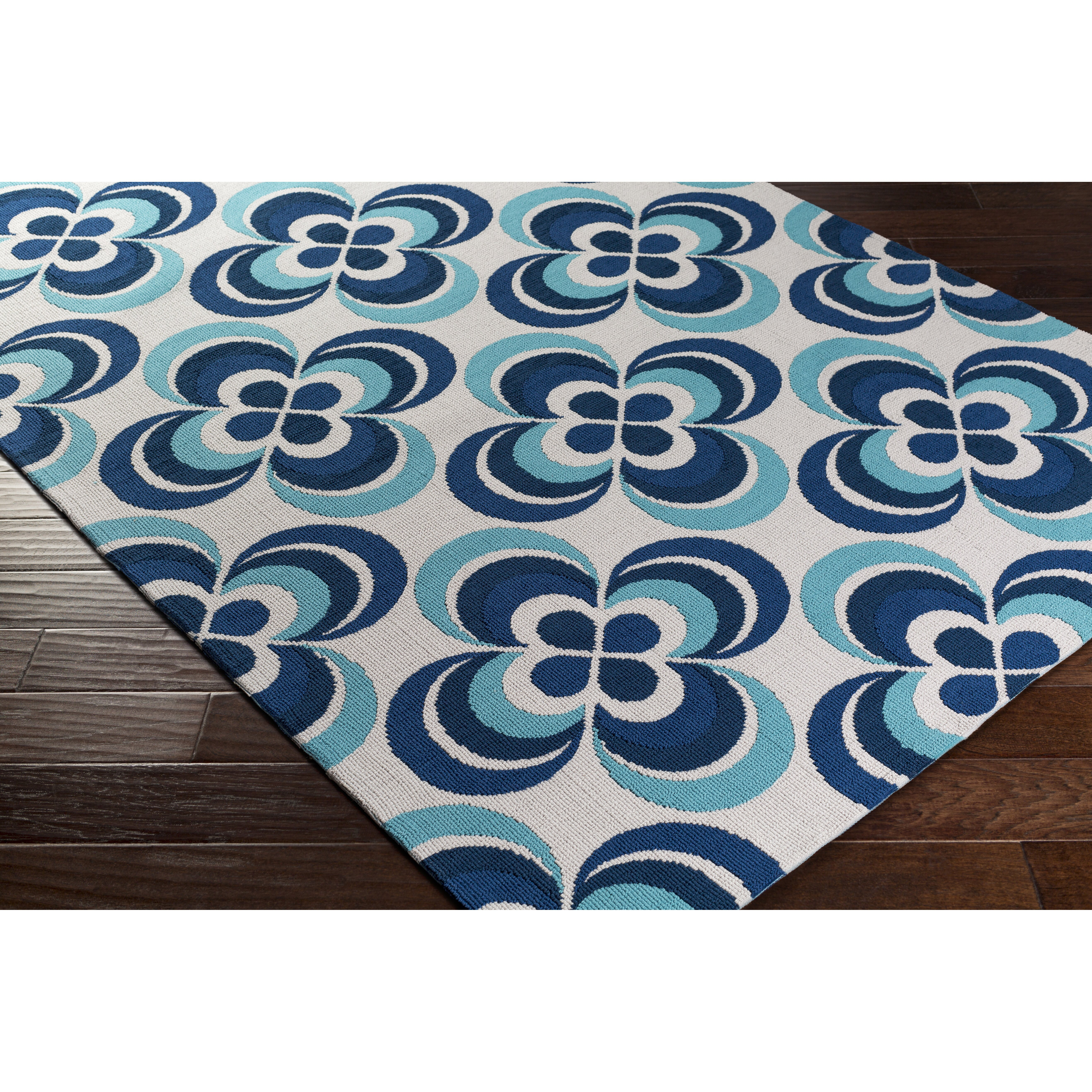 Artistic Weavers Joan Everston Navy Blue/Aqua Area Rug
