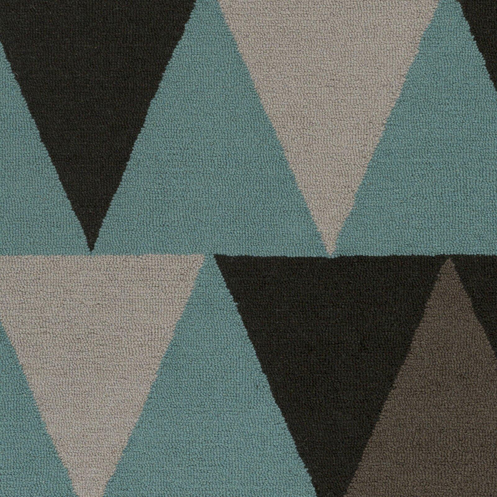 Artistic Weavers Hilda Rae Hand-Crafted Teal/Gray Area Rug