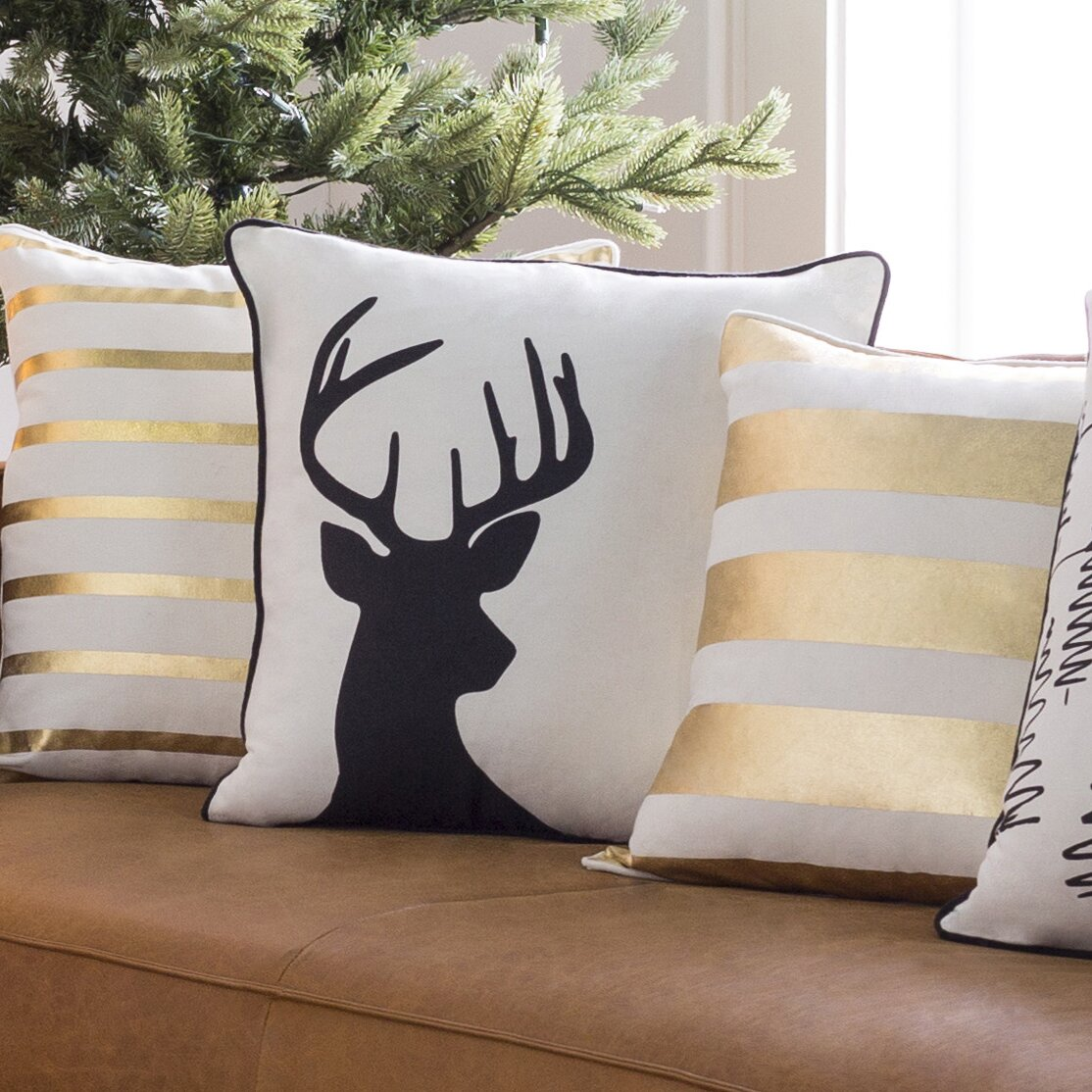 Throw Pillows Deer : Artistic Weavers Holiday Deer Throw Pillow & Reviews Wayfair.ca