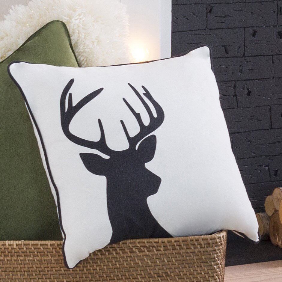 Artistic Weavers Holiday Deer Throw Pillow Amp Reviews