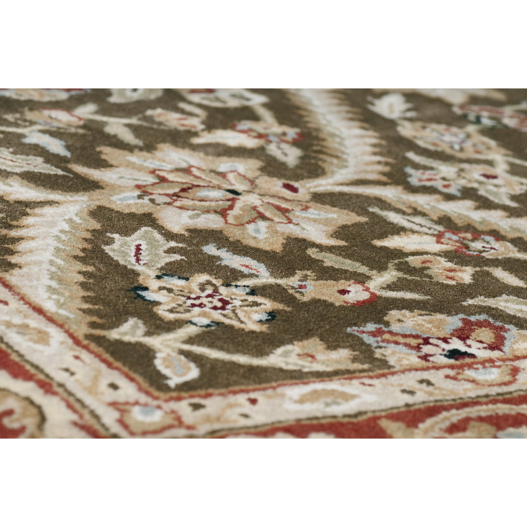 Amer Rugs Cardinal Cocoa Brown Red Boniface Area Rug