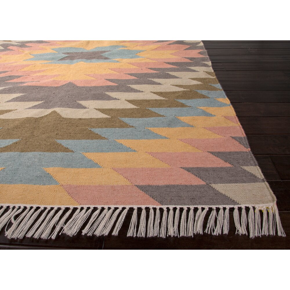 jaipurliving desert blue orange tribal indoor outdoor area rug reviews wayfair. Black Bedroom Furniture Sets. Home Design Ideas