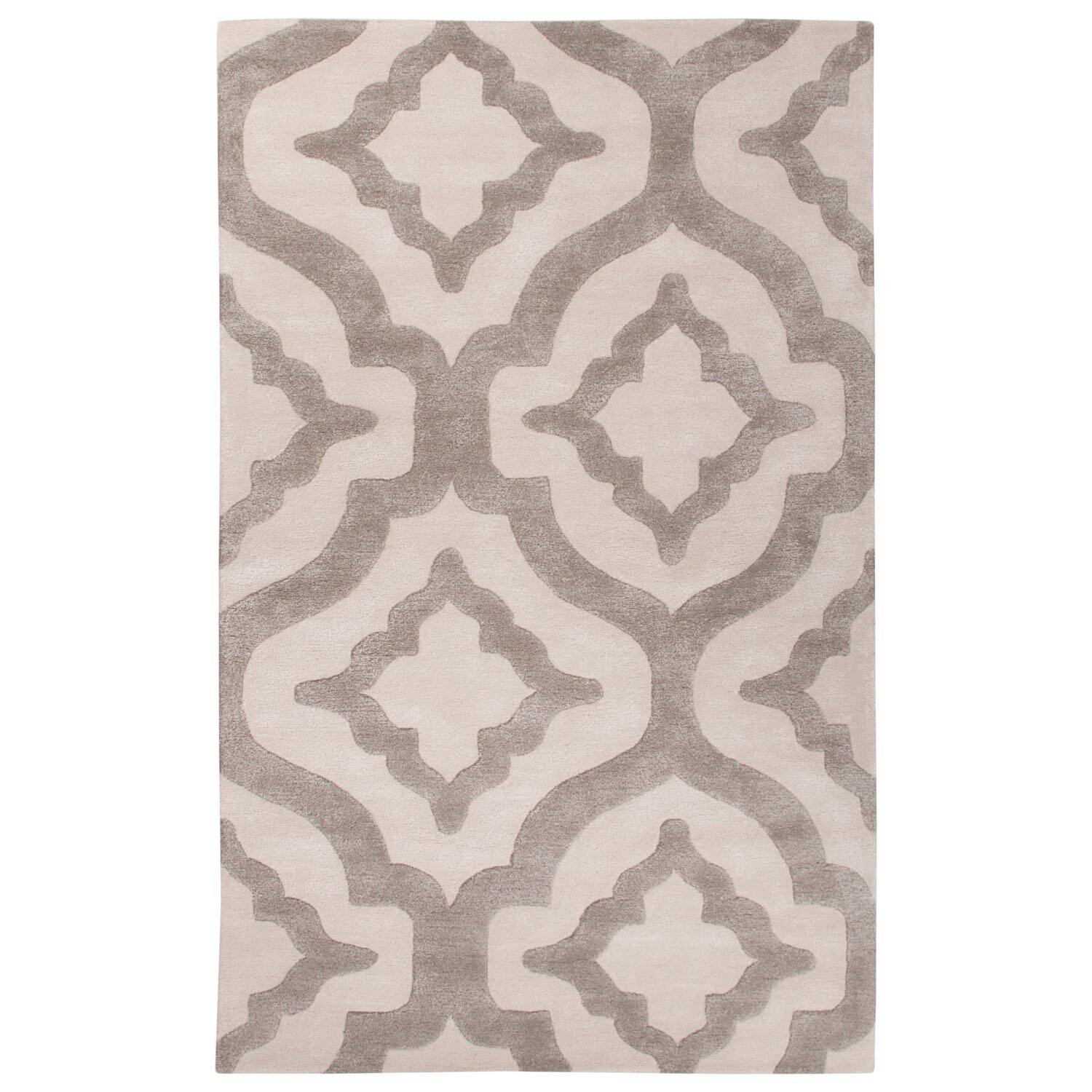 Jaipurliving city hand tufted ivory white area rug wayfair for White area rug