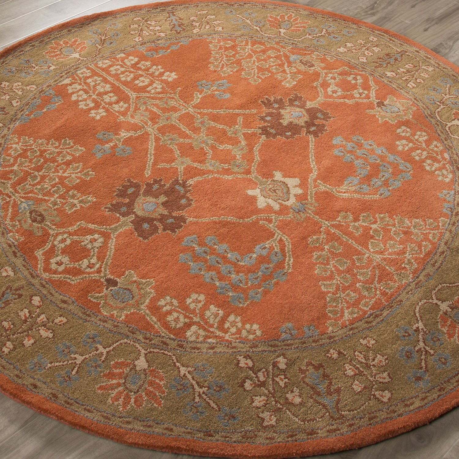 jaipurliving poeme chambery orange rust gold brown area rug reviews wayfair. Black Bedroom Furniture Sets. Home Design Ideas