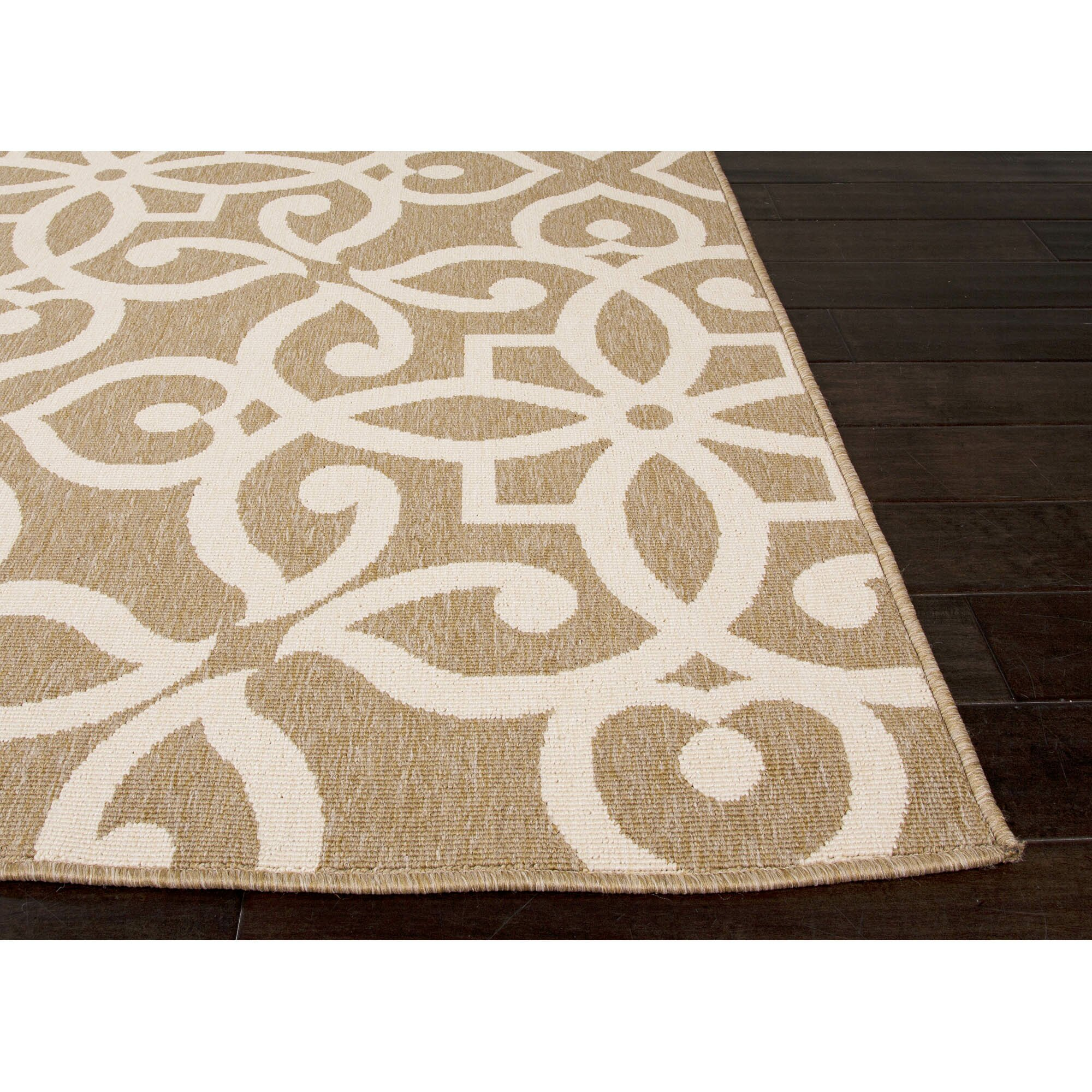 JaipurLiving Bloom Brown/Taupe Indoor/Outdoor Area Rug