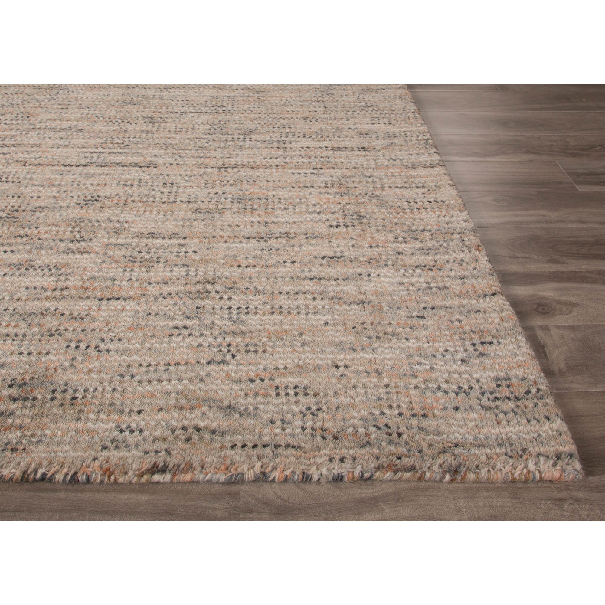 Jaipurliving alton hand loomed gray tan area rug wayfair for Grey and tan rug
