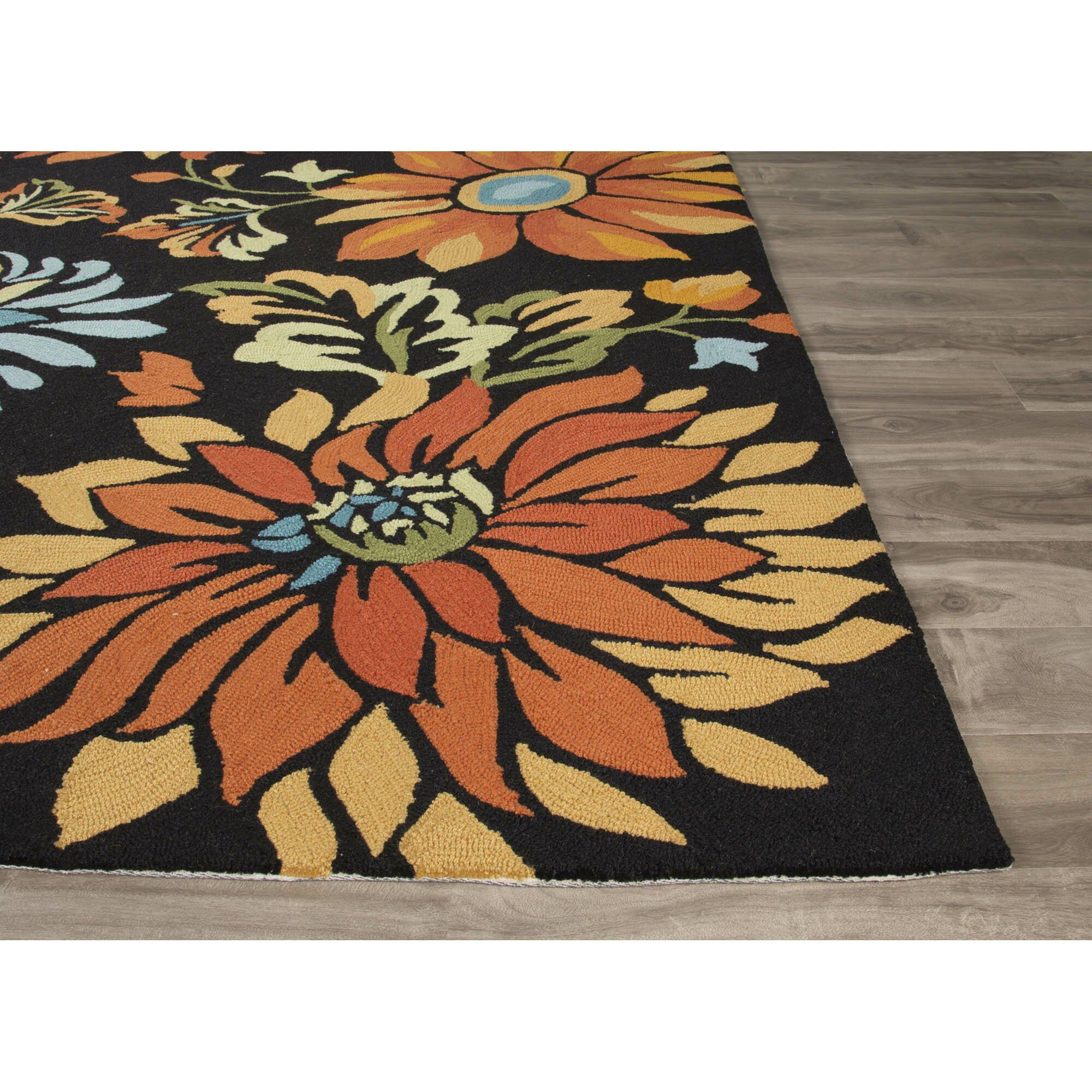 orange and black rug