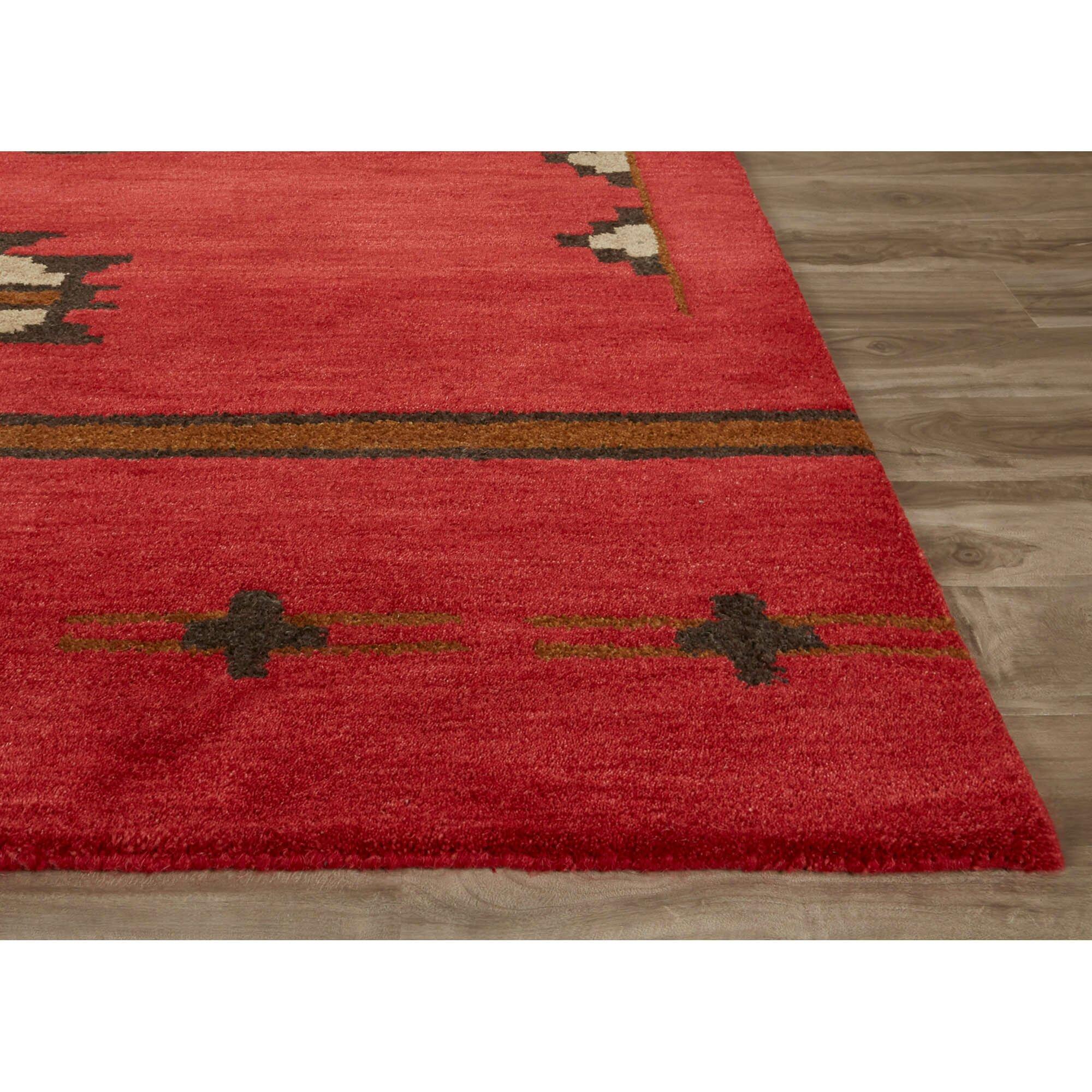 jaipurliving cabin hand tufted red gray area rug wayfair. Black Bedroom Furniture Sets. Home Design Ideas