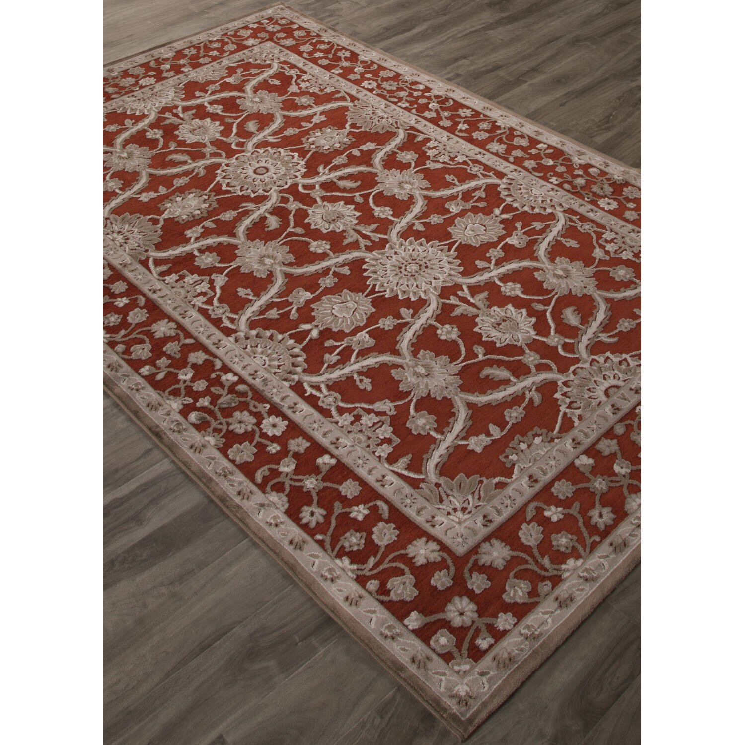 jaipurliving fables red gray area rug wayfair. Black Bedroom Furniture Sets. Home Design Ideas