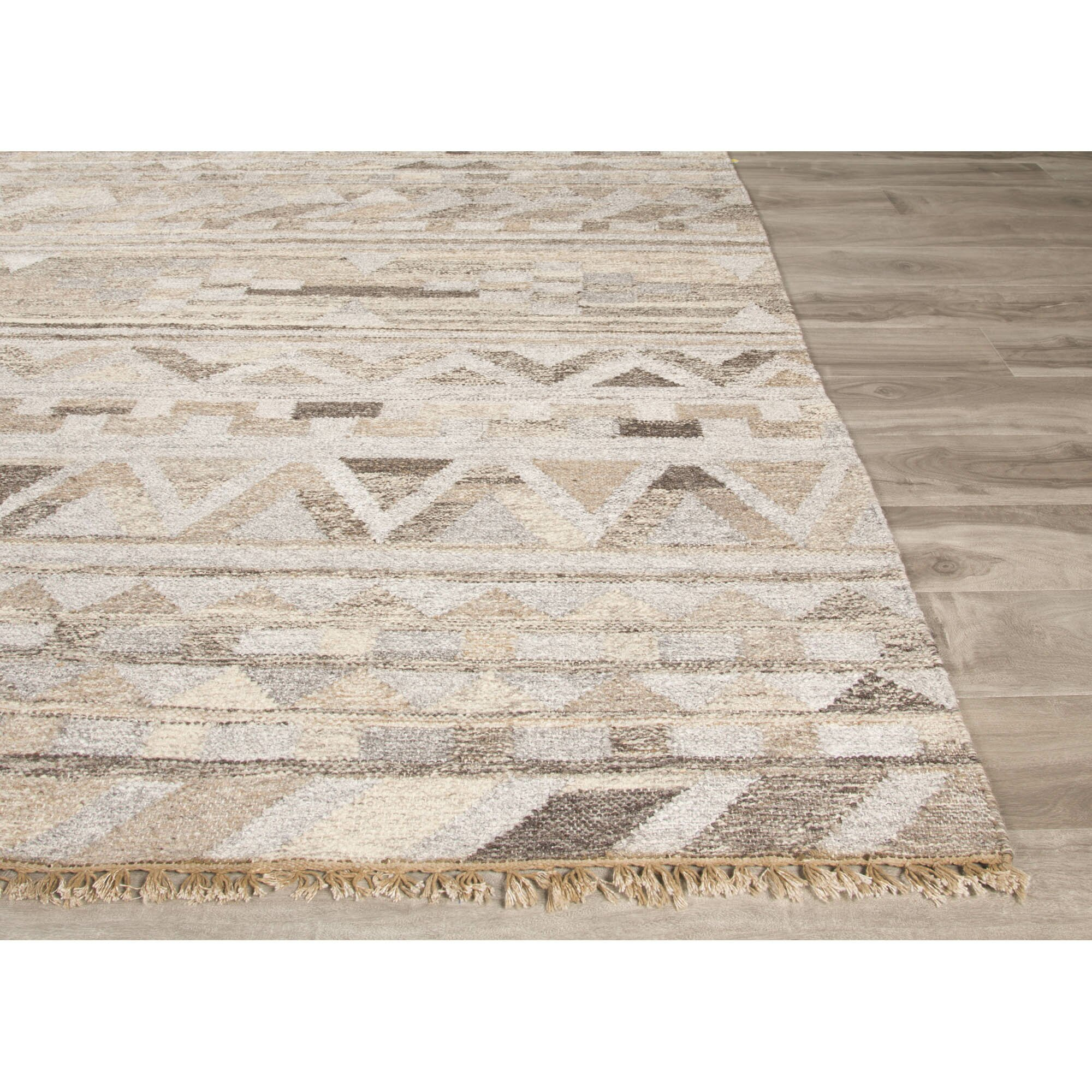Gray Taupe And White Bedroom Curatins: JaipurLiving Prescot Gray/Taupe Area Rug