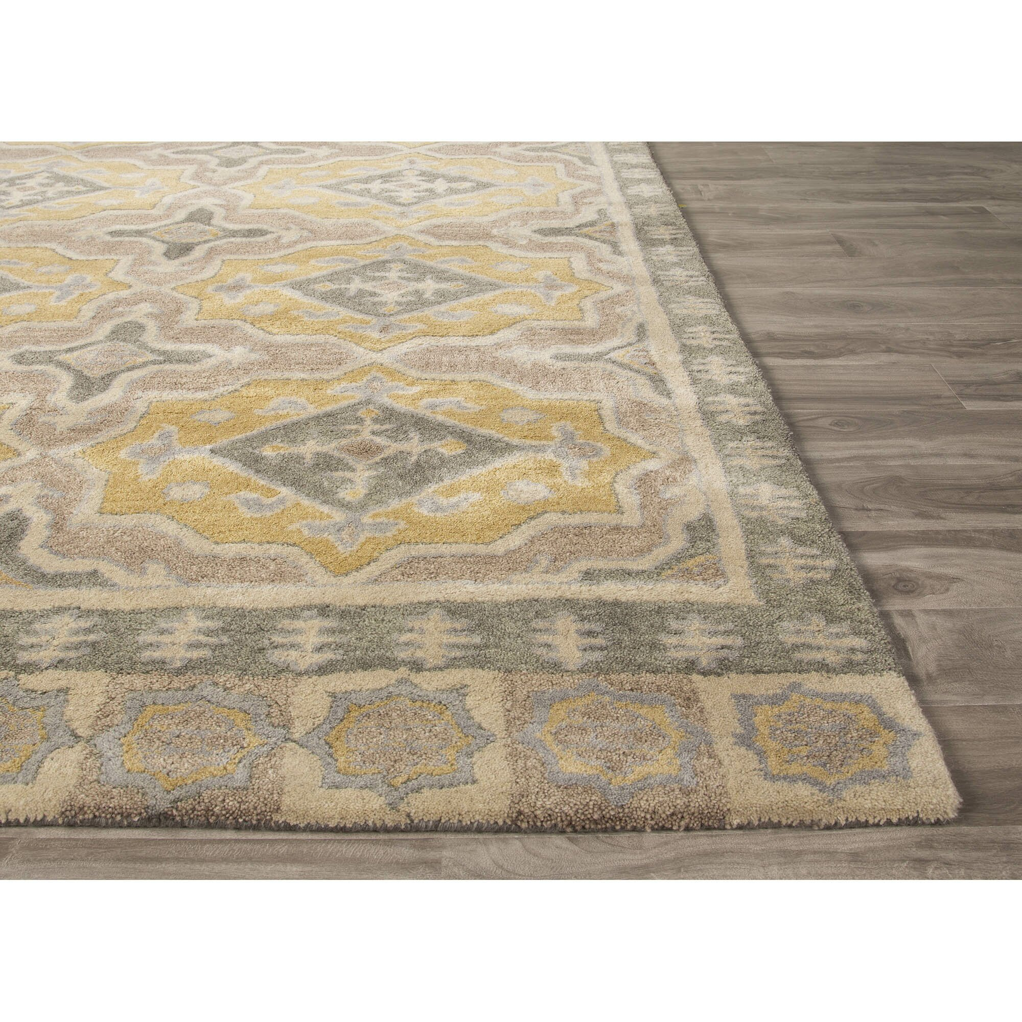 JaipurLiving Pendant Hand-Tufted Gray/Yellow Area Rug