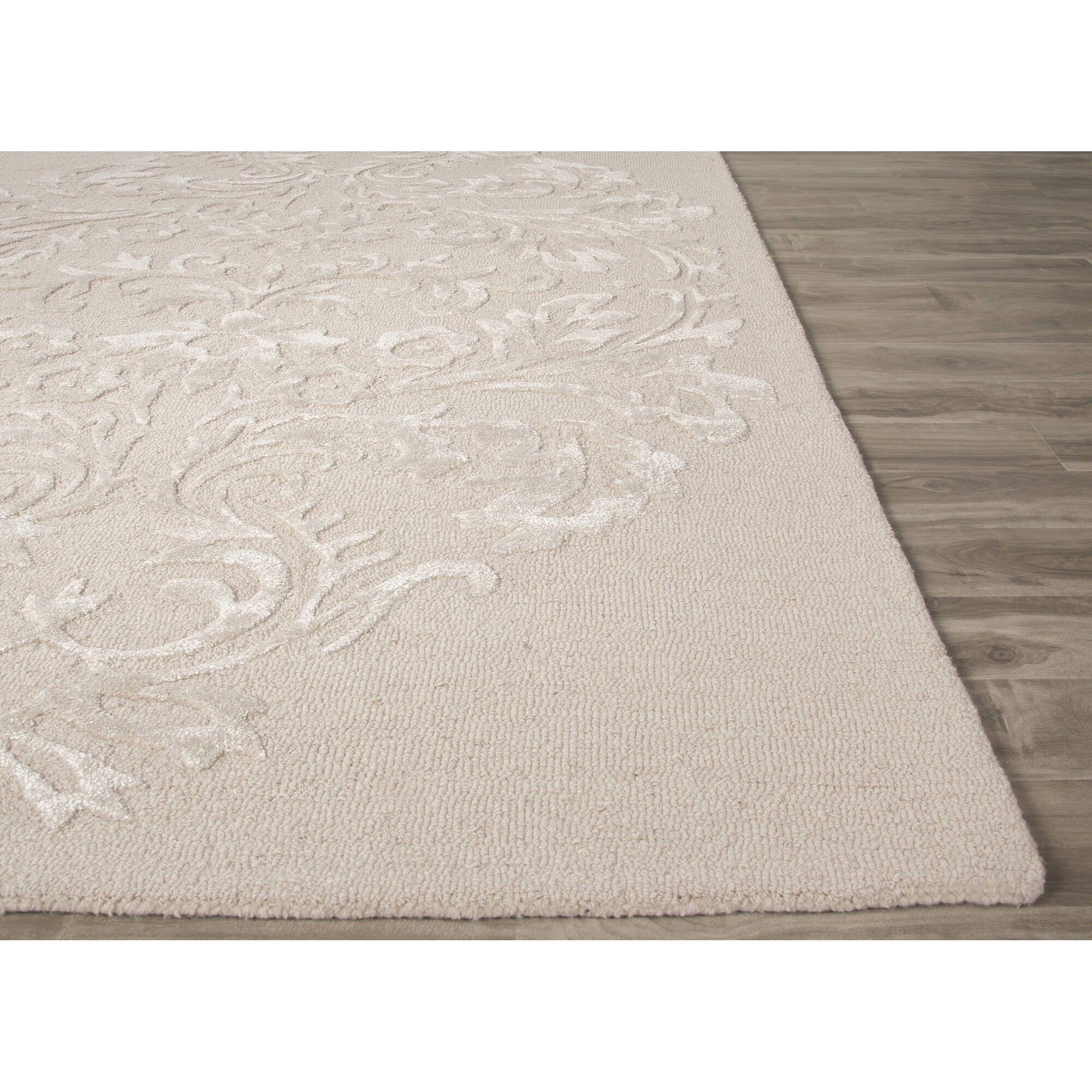 JaipurLiving Crossley Hand-Tufted Ivory/White Area Rug