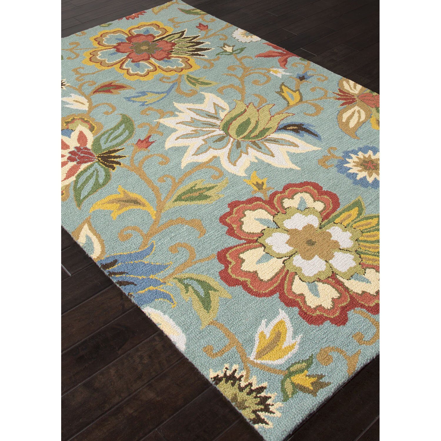 jaipur living hacienda light turquoise floral area rug cheerful home office rug wayfair safavieh