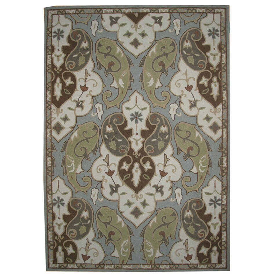 Jaipurliving barcelona hoja indoor outdoor area rug for Indoor out door rugs