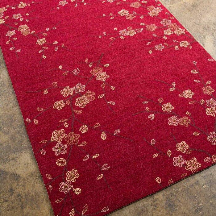 Jaipurliving Brio Cherry Blossom Red Area Rug Amp Reviews